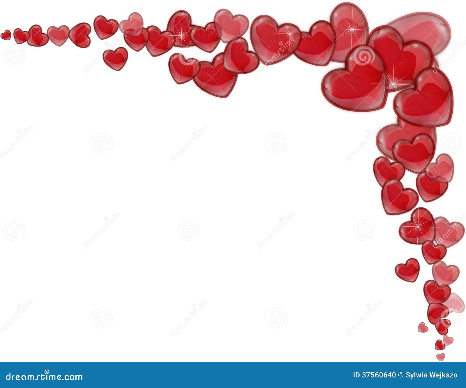en un fondo blanco por un día de tarjeta del día de San Valentín