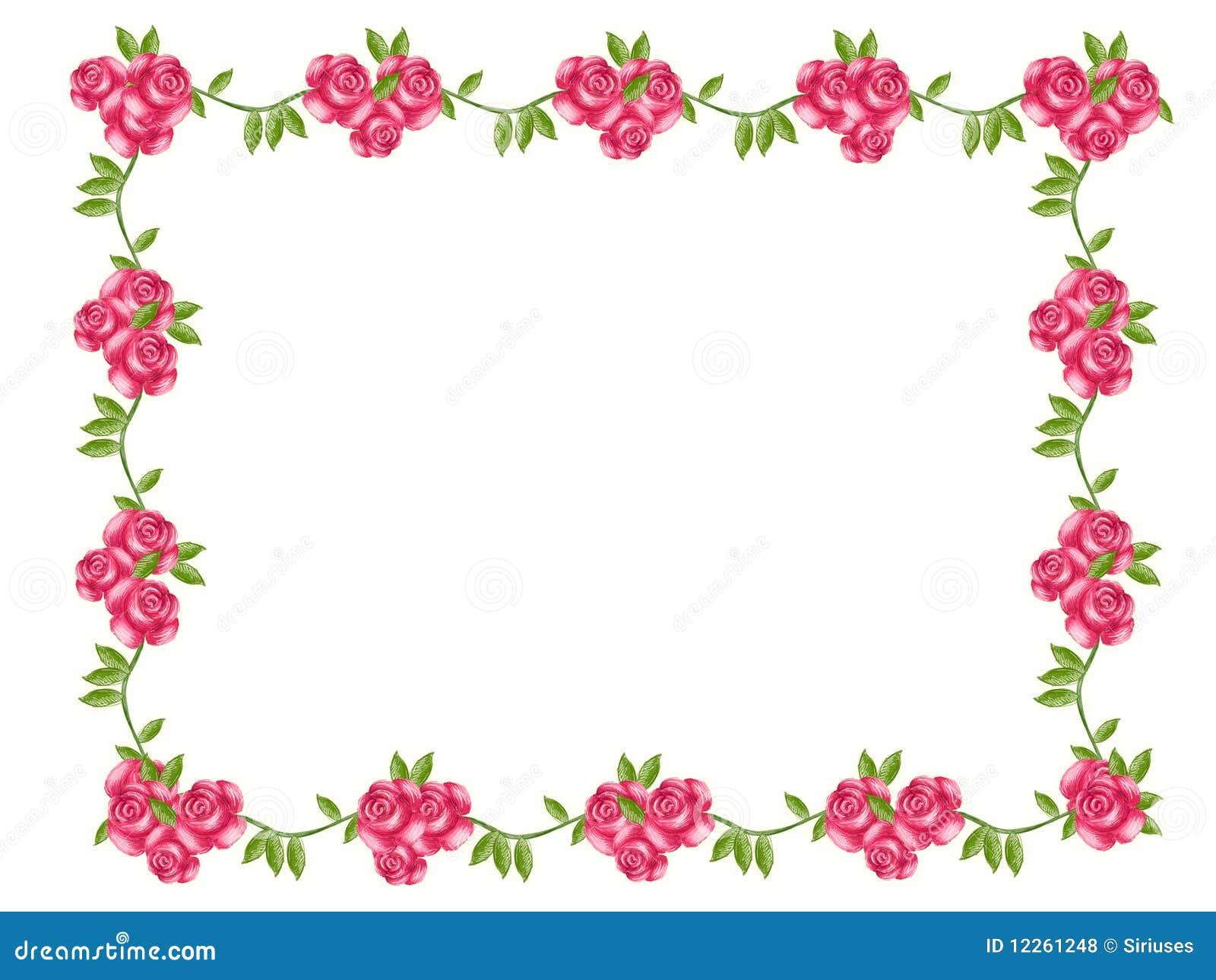 Marco de la flor stock de ilustración. Ilustración de amor - 12261248