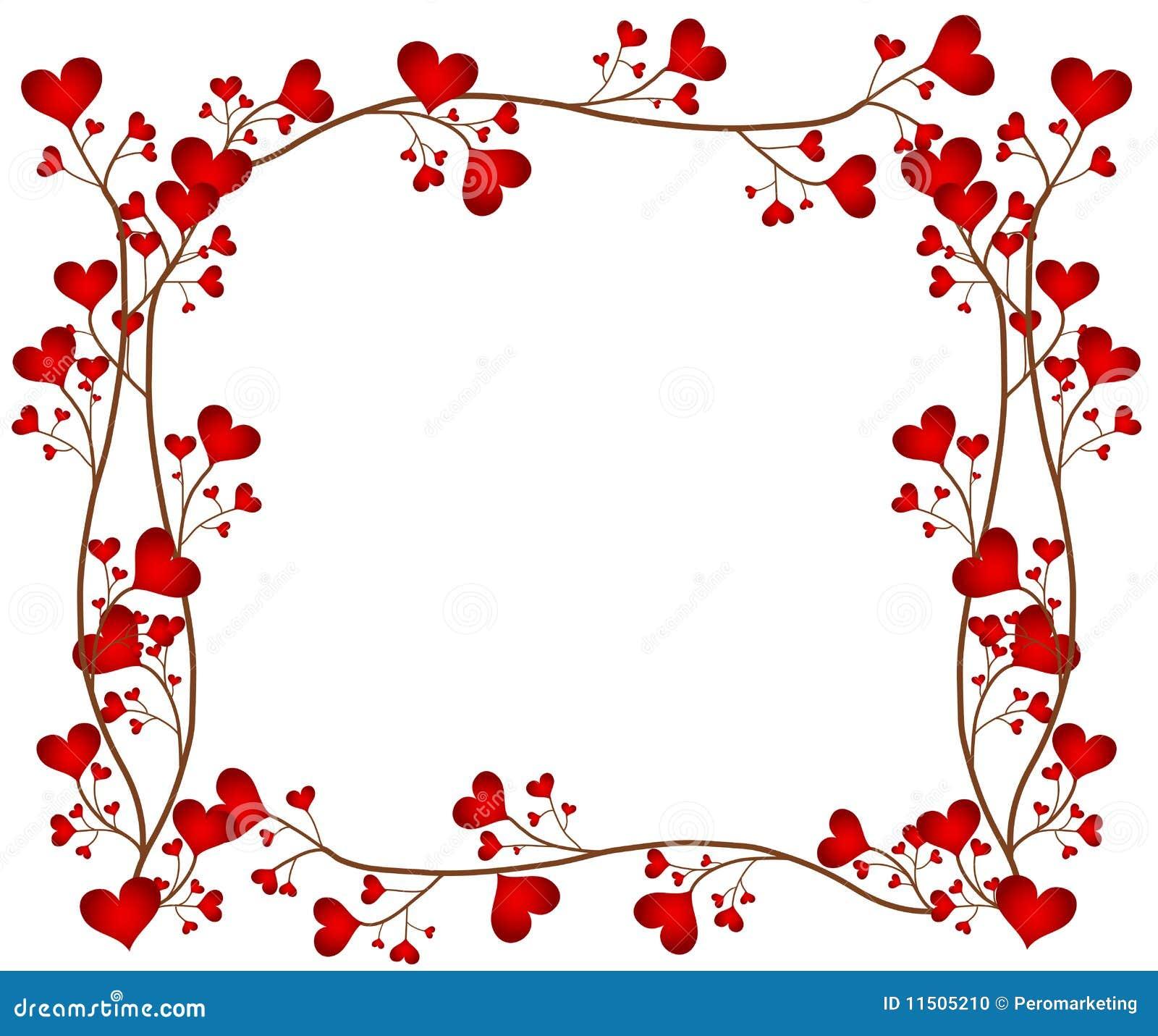 Marco de la flor del amor stock de ilustración. Ilustración de ...
