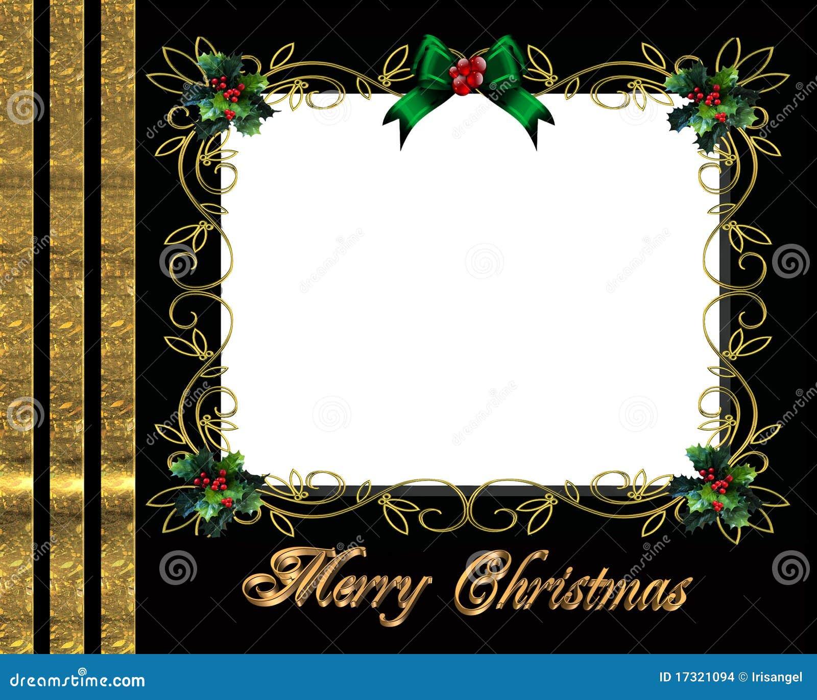 Marco De La Foto De La Frontera De La Navidad Elegante Stock de ...