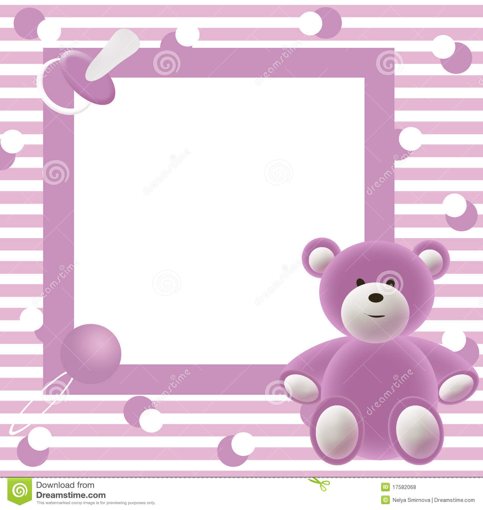 Marco de la foto de los beb s stock de ilustraci n ilustraci n de ni os historieta 17582068 - Marcos fotos bebes ...