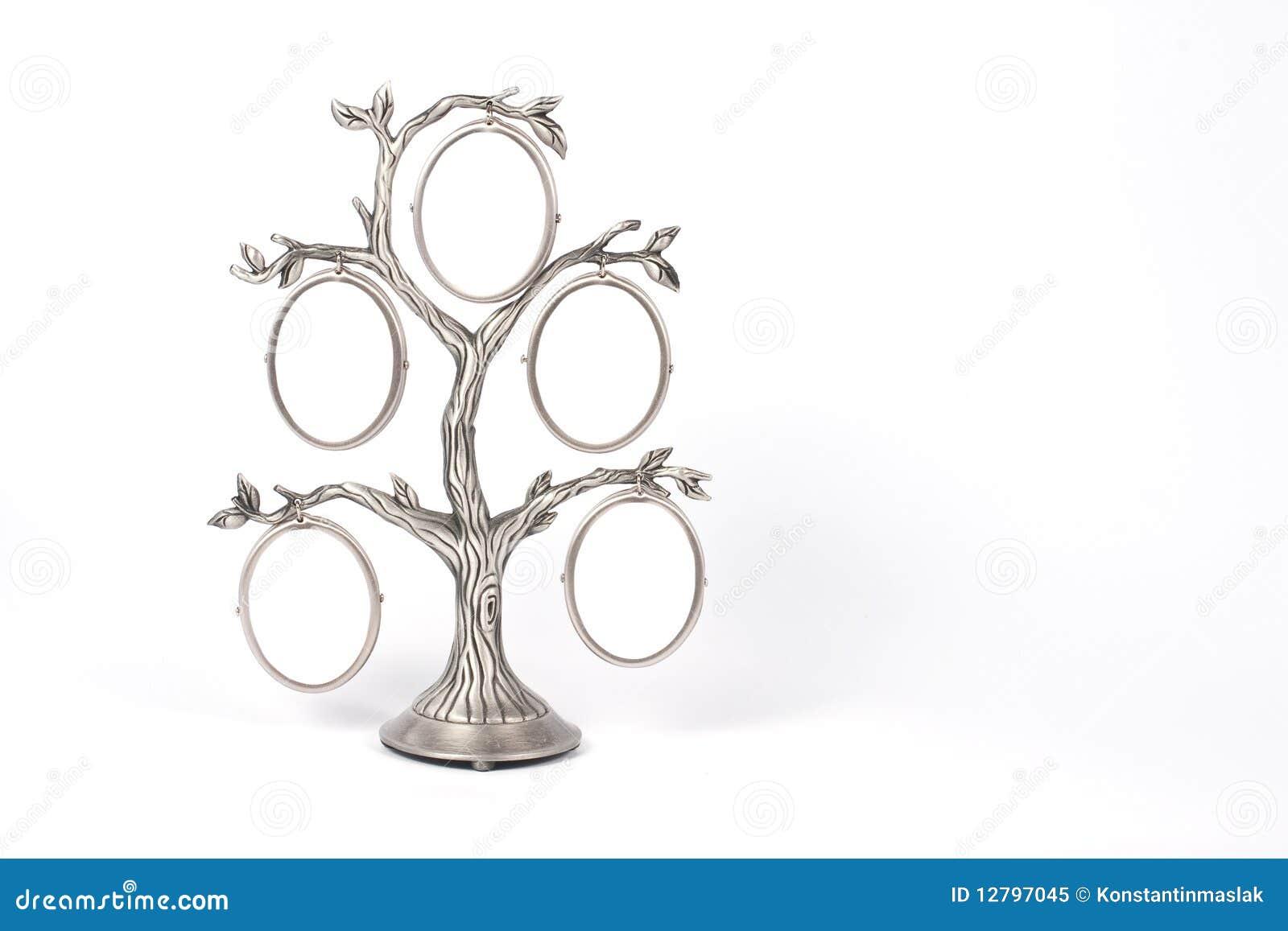 Marco De La Foto En Forma Del árbol Imagen de archivo - Imagen de ...