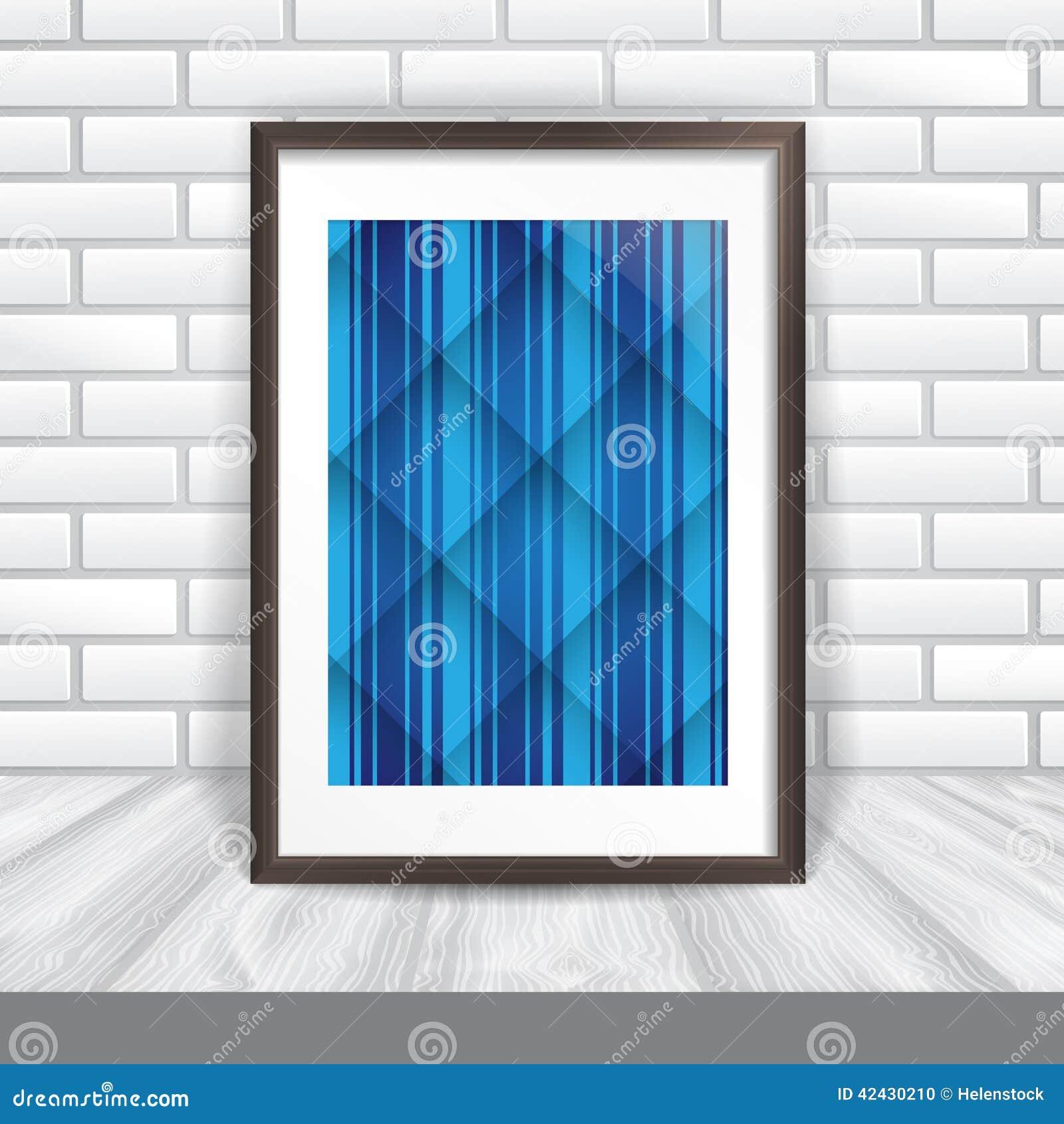 Marco de la foto en la pared