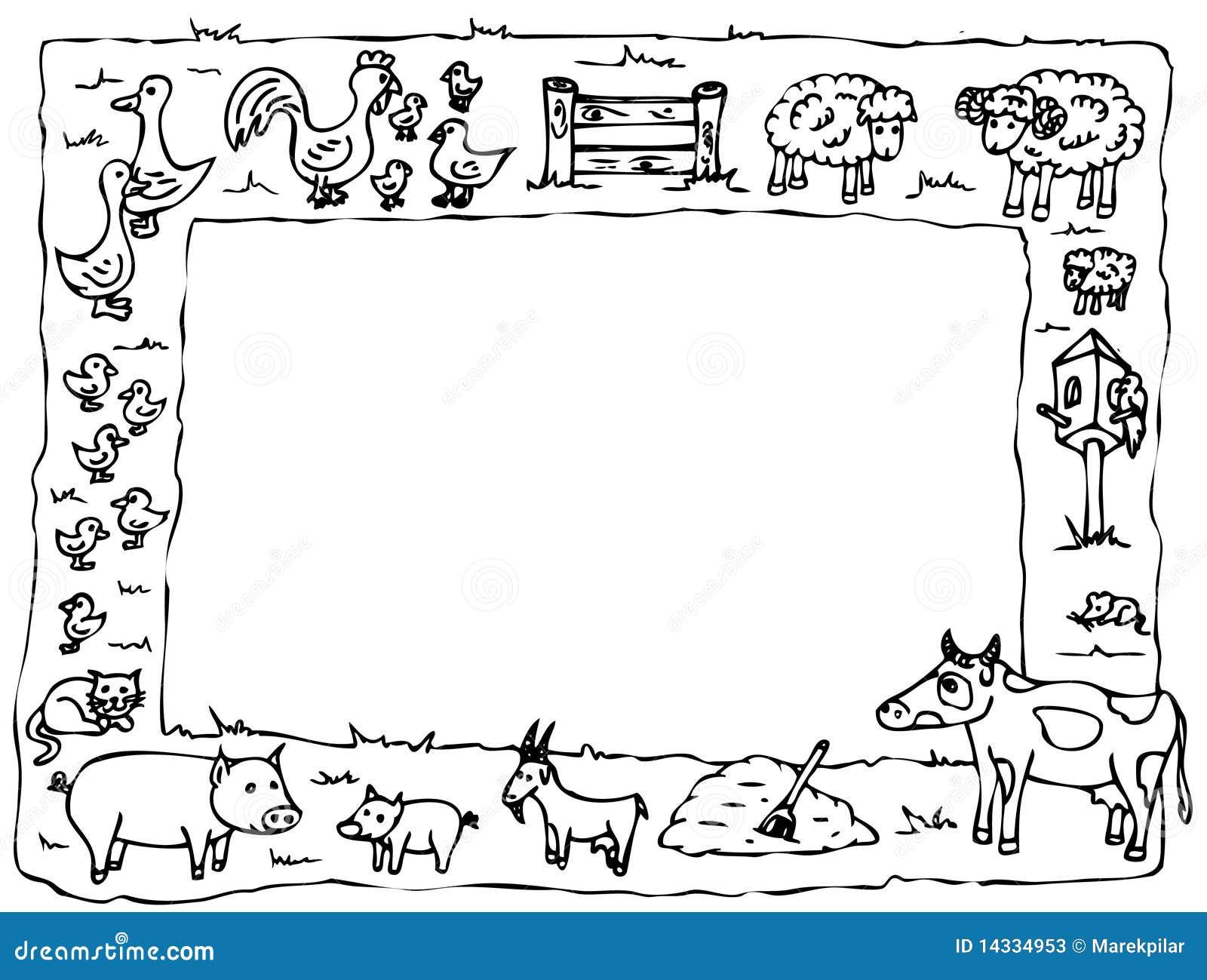 Marco de la granja stock de ilustración. Ilustración de granja ...