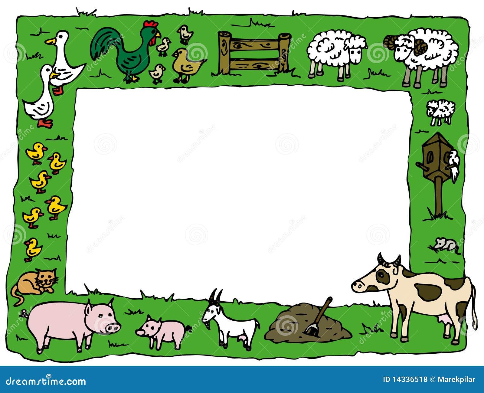 Marco de la granja stock de ilustración. Ilustración de pato - 14336518