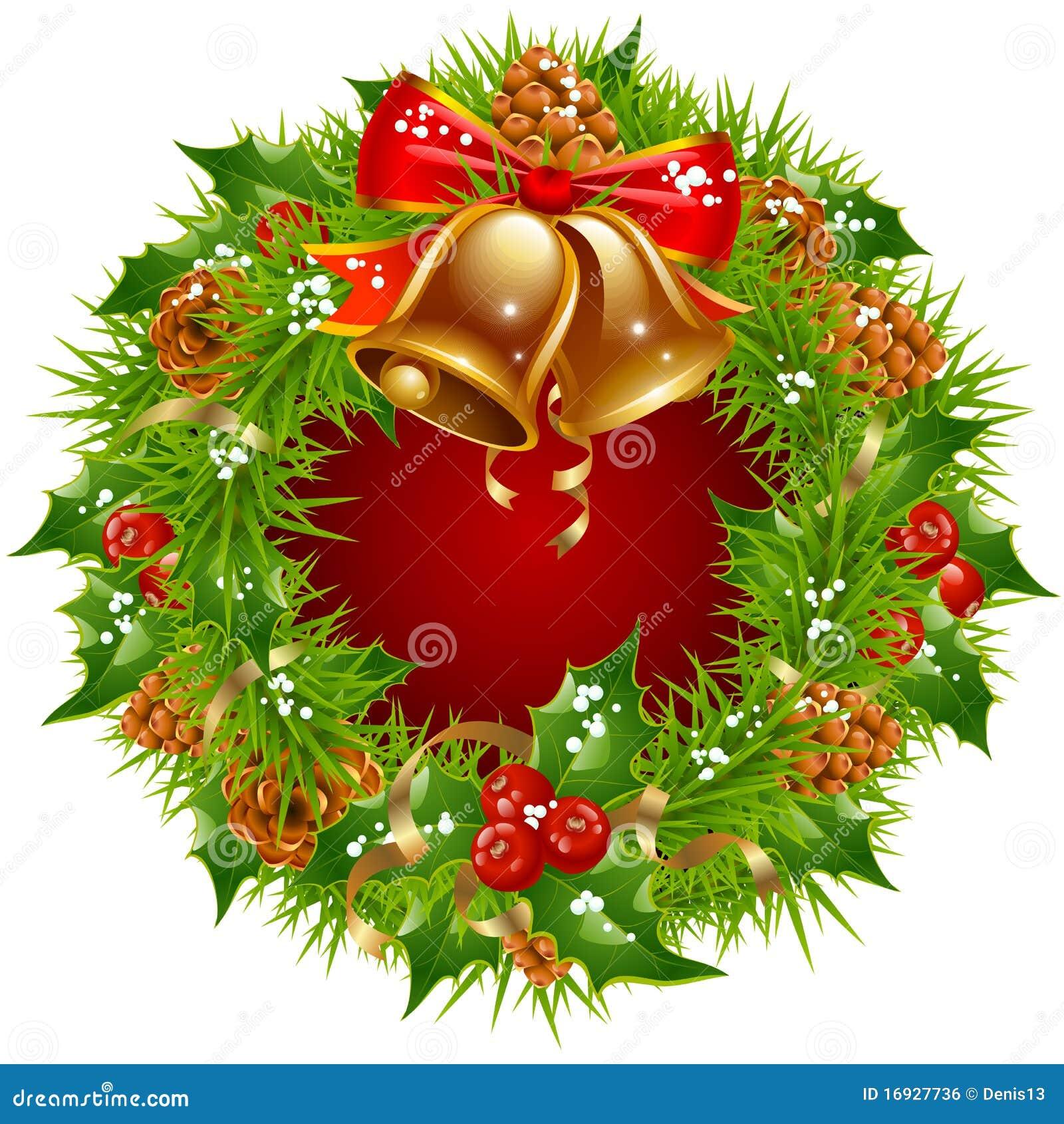 Marco de la guirnalda de la navidad ilustraci n del vector - Guirnalda de navidad ...