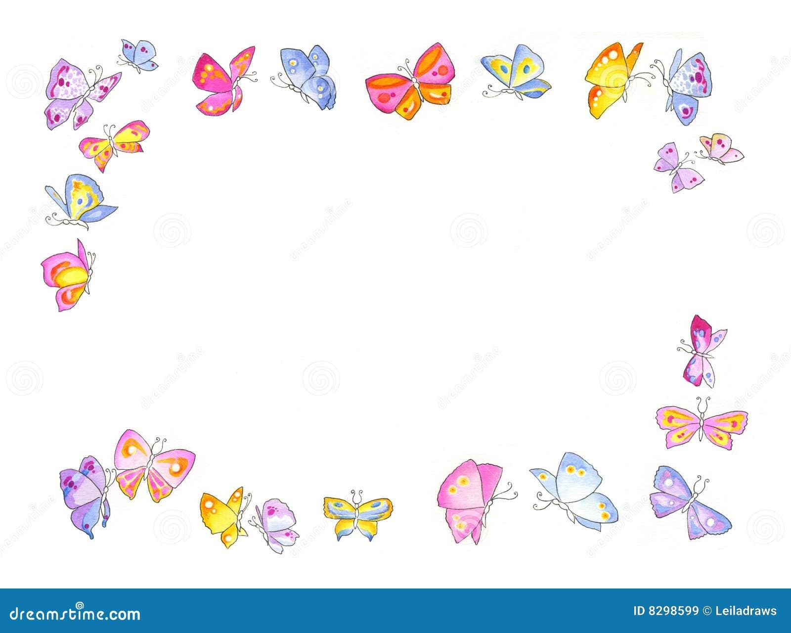 Marco de la mariposa stock de ilustración. Ilustración de coloreado ...