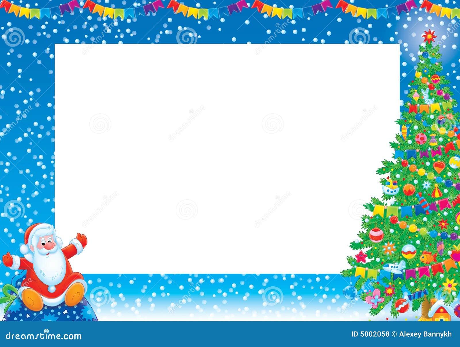 Marco de la Navidad stock de ilustración. Ilustración de bola - 5002058