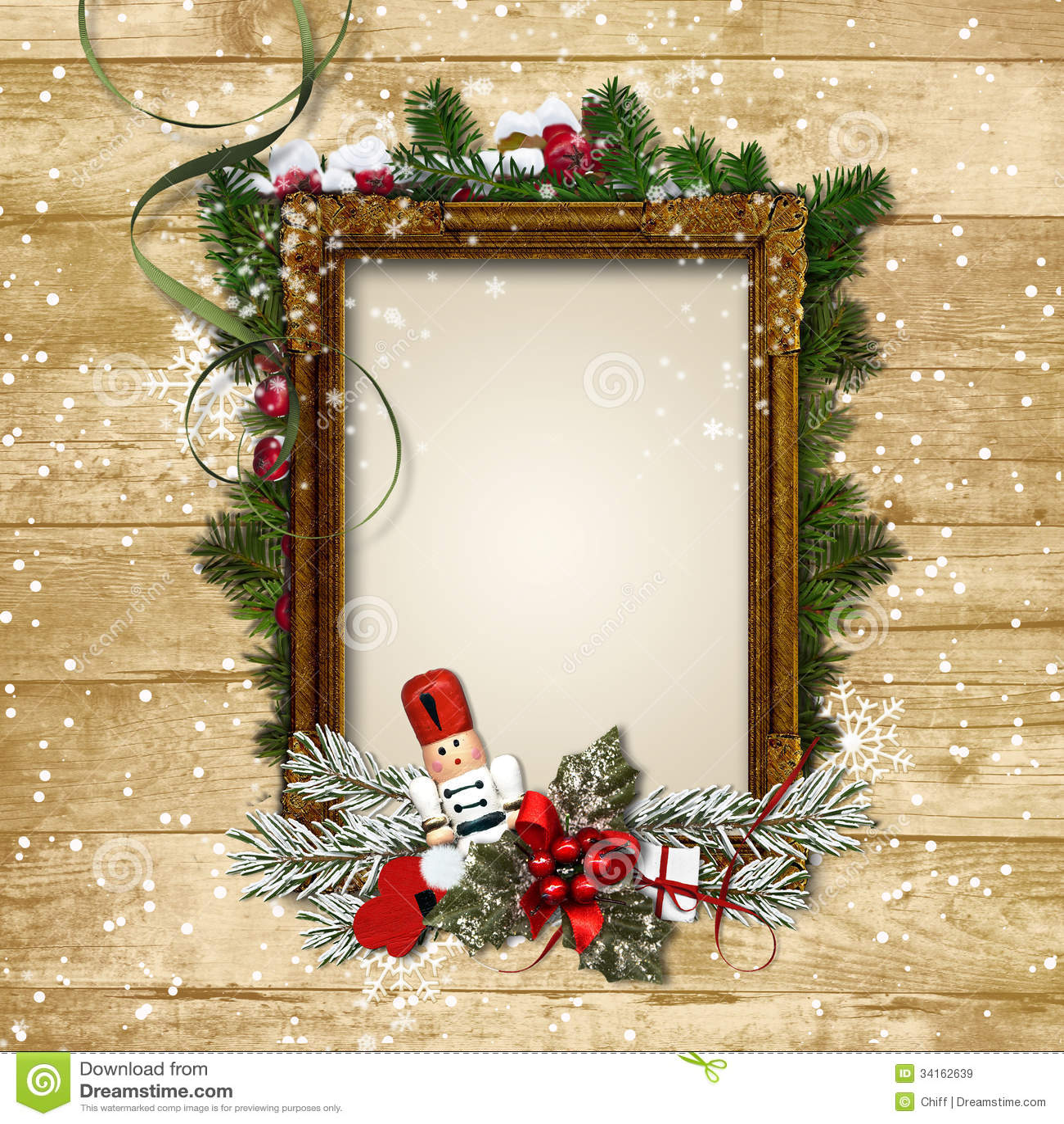 Marco De La Navidad Con La Decoraci 243 N Y El Cascanueces En