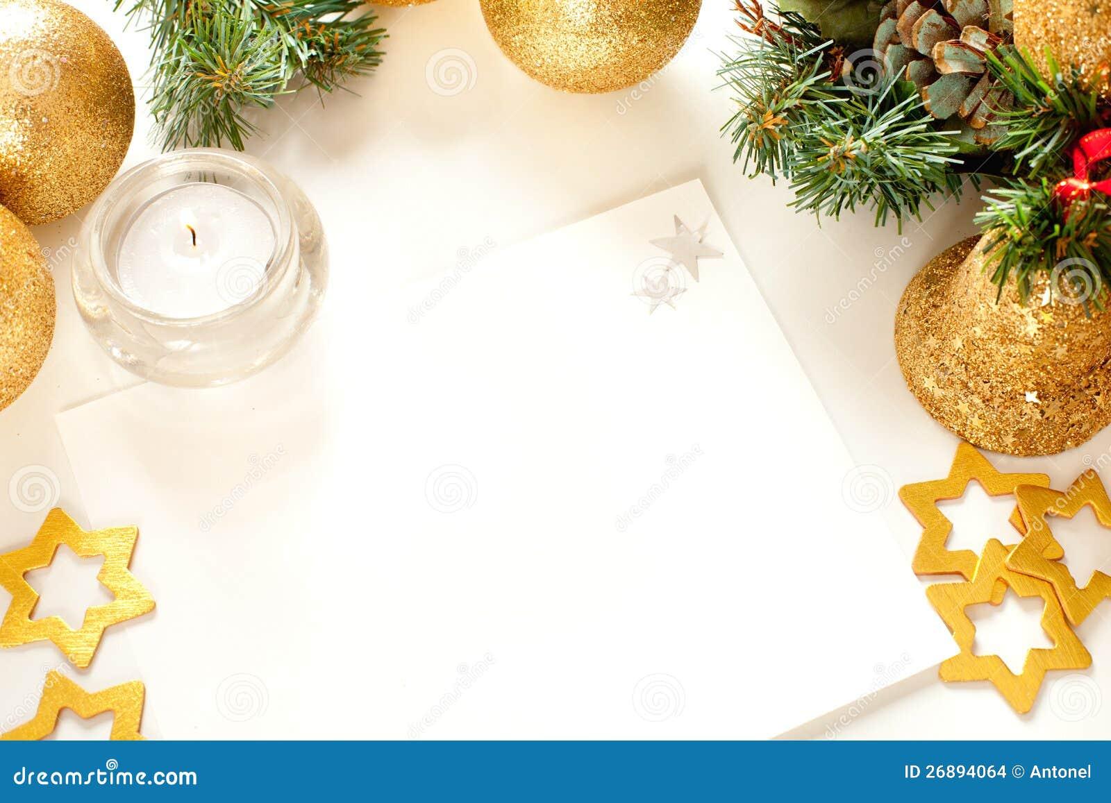 Marco De La Navidad Para La Tarjeta De Felicitación Foto de archivo ...
