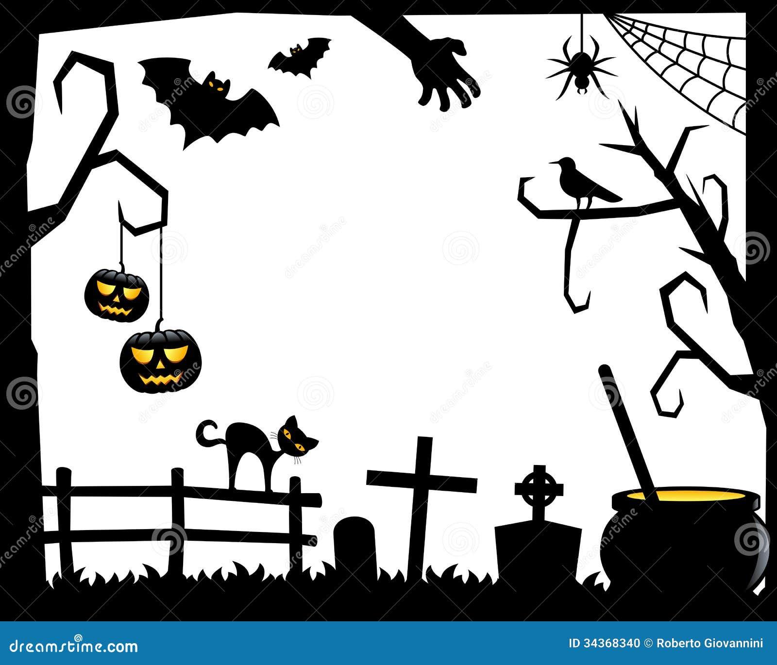 marco de la silueta de halloween 2 foto de archivo