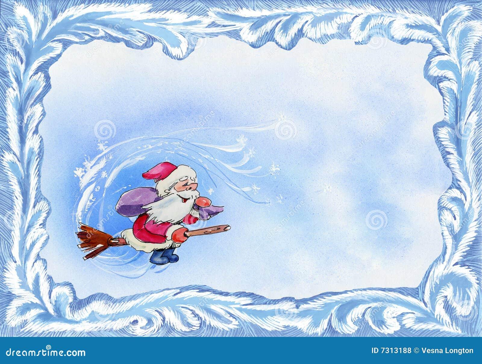 Marco De La Tarjeta De Navidad Stock de ilustración - Ilustración de ...