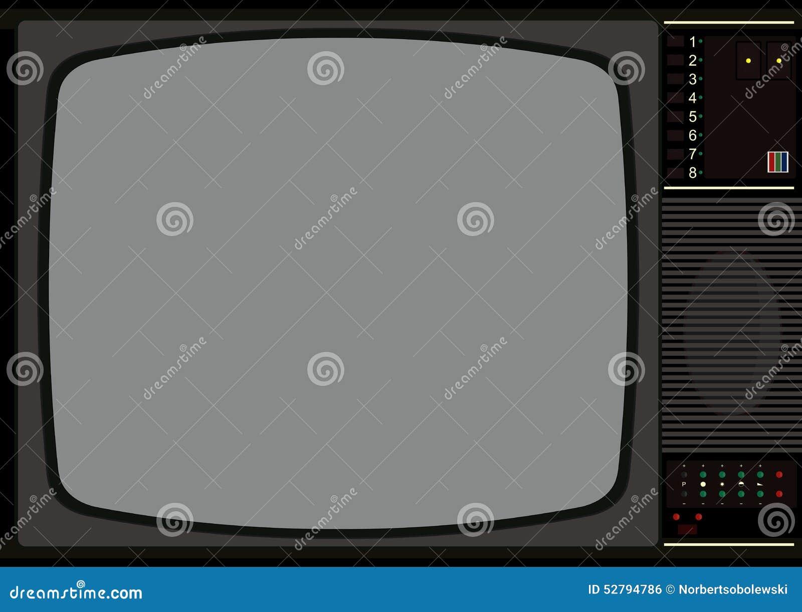 Marco de la televisión ilustración del vector. Ilustración de ...