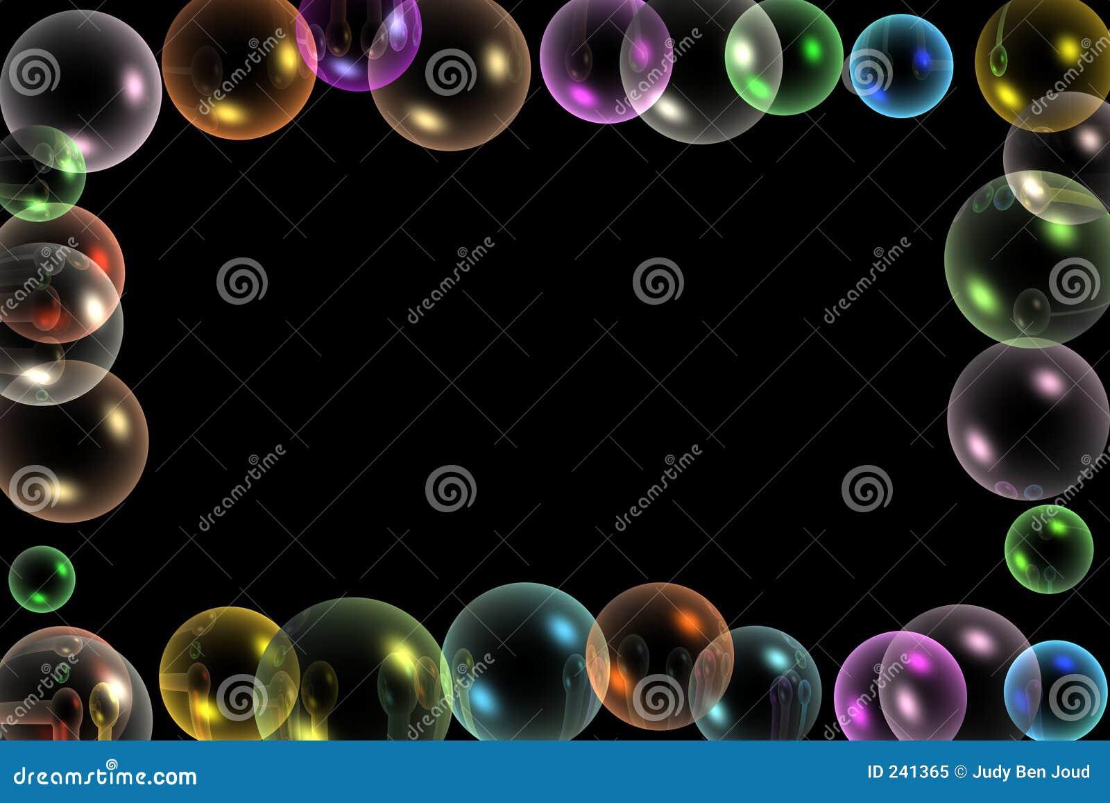Marco de las burbujas stock de ilustración. Ilustración de ...