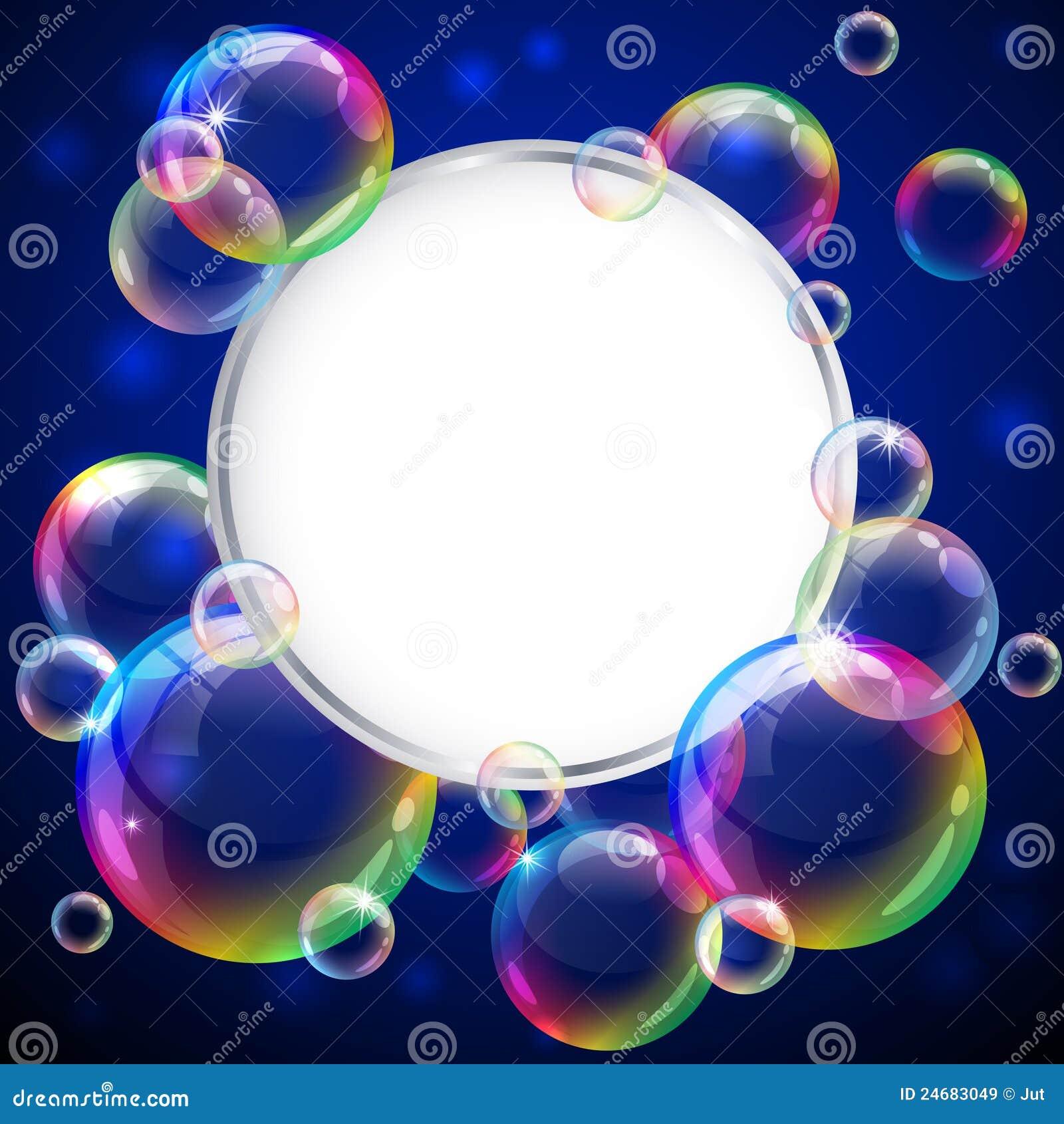 Marco de las burbujas ilustración del vector. Ilustración de jabón ...