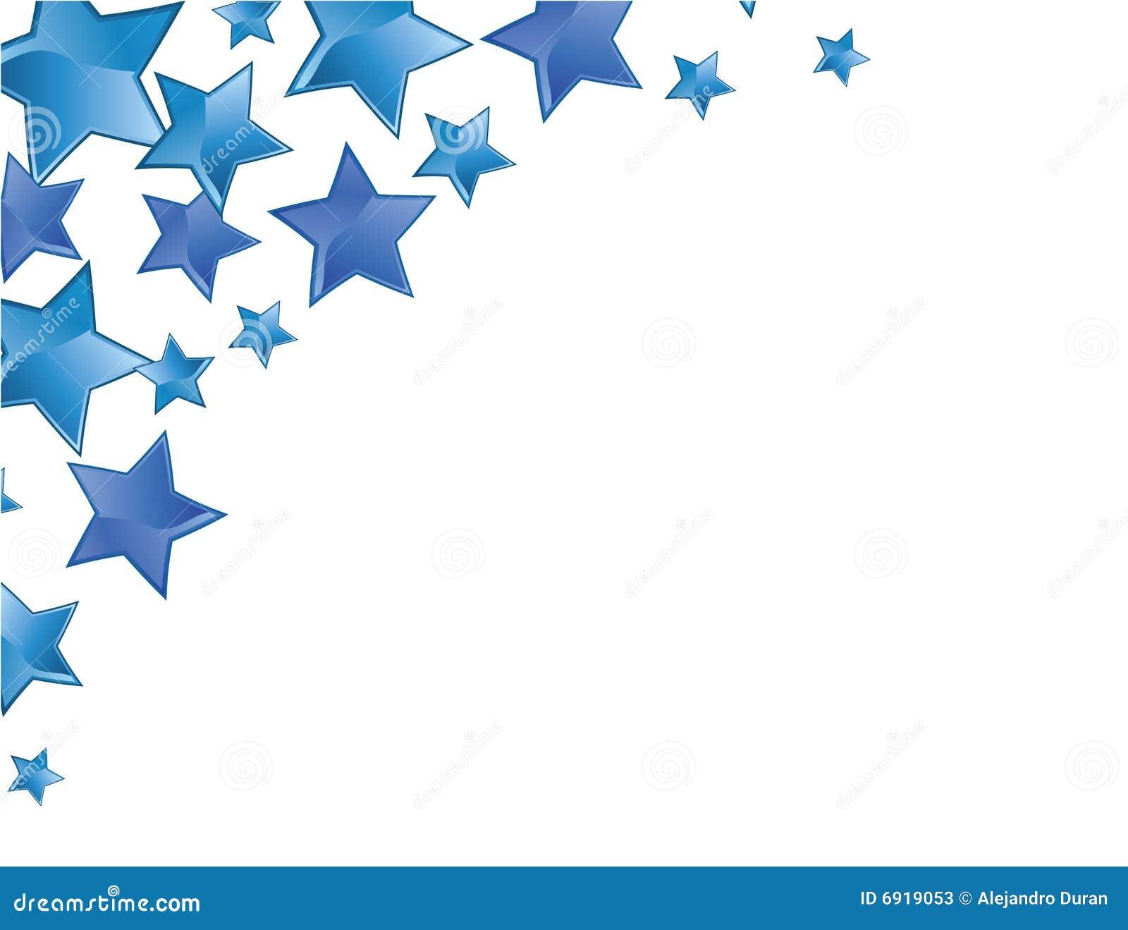 Marco De Las Estrellas Azules Ilustración del Vector - Ilustración ...