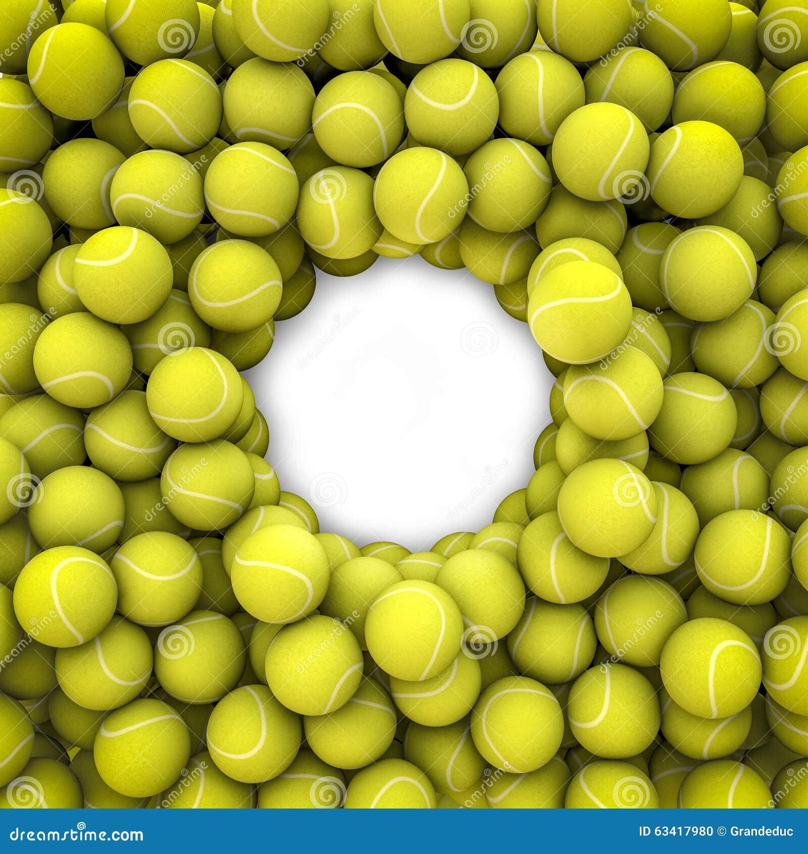 Tenis pelota stock de ilustracion ilustracion libre de stock de - Marco De Las Pelotas De Tenis Stock De Ilustraci N