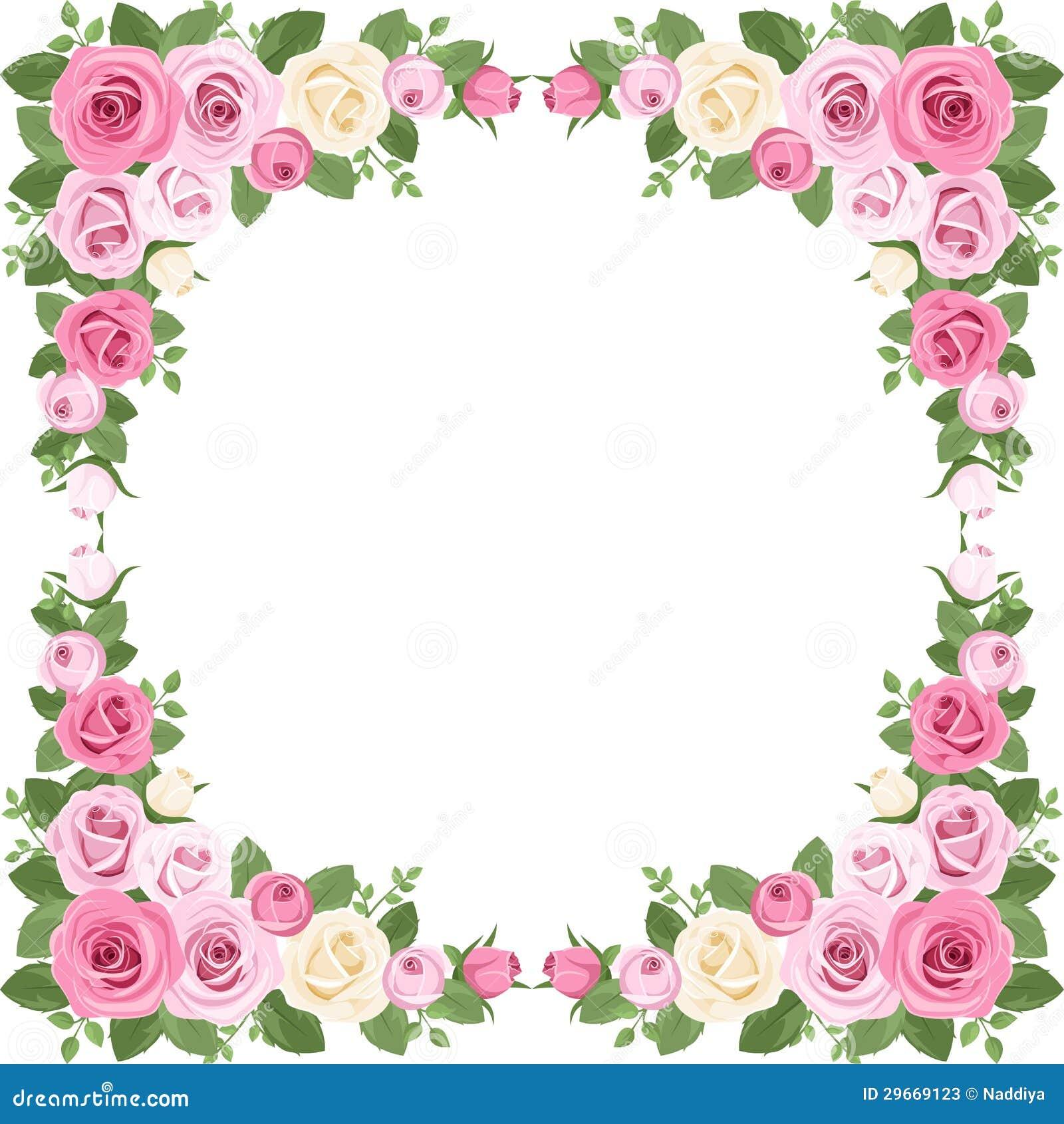 8b21e6e5278a7 Marco De Las Rosas Del Vintage. Ilustración del Vector - Ilustración ...