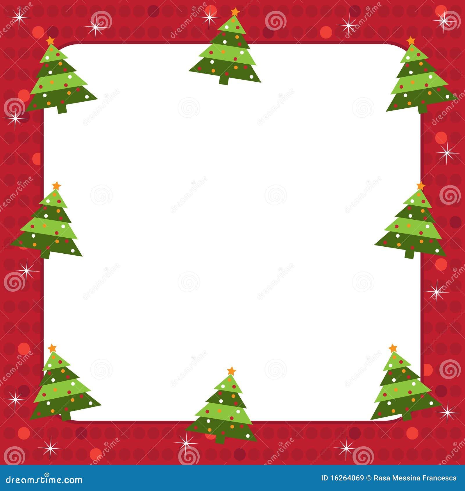 Marco De Los árboles De Navidad Ilustración del Vector - Ilustración ...