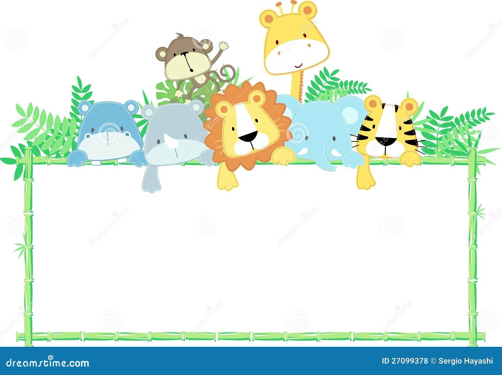 Marco de los animales del bebé