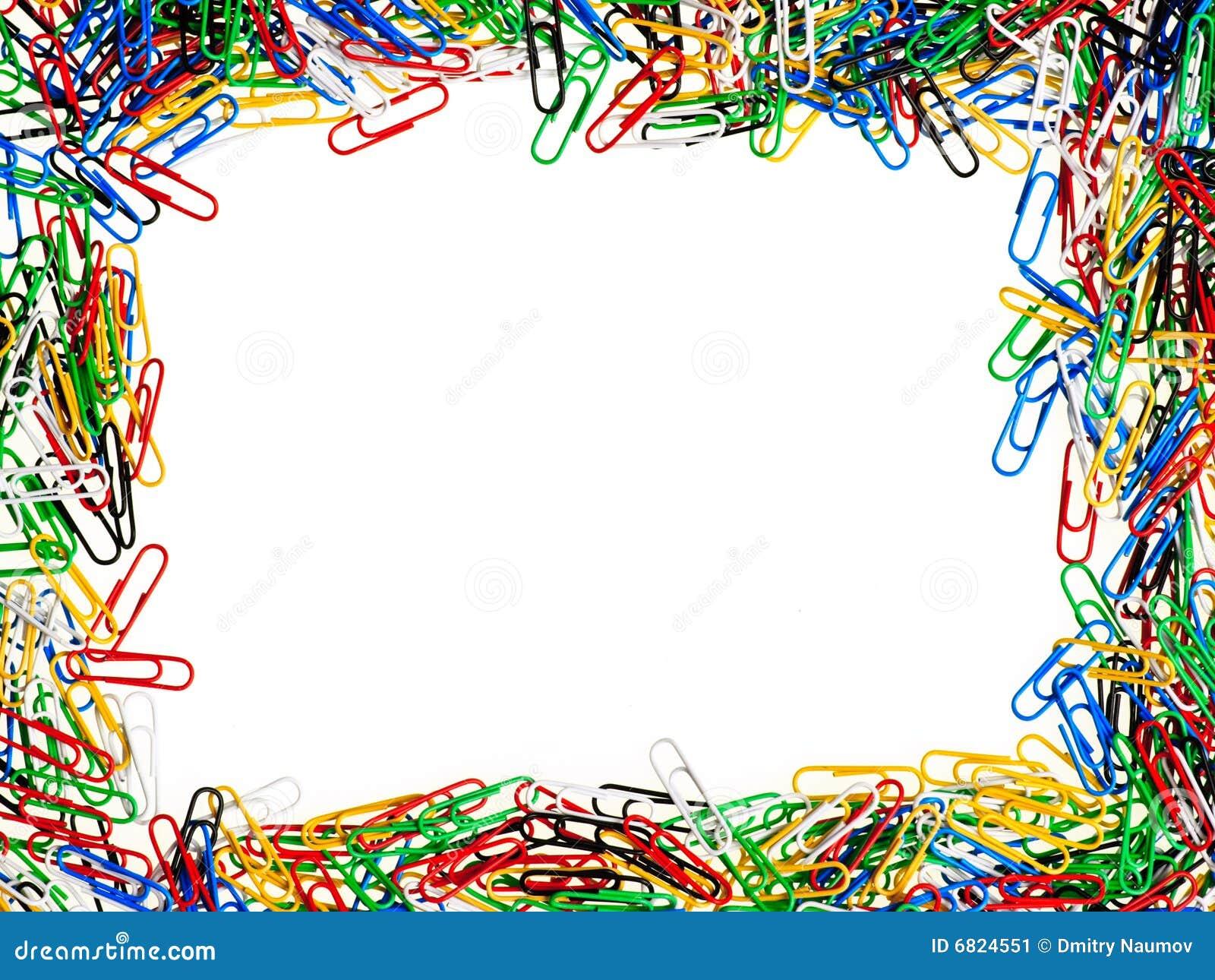 Marco de los clips de papel imagen de archivo imagen 6824551 - Marco de fotos multiple ...
