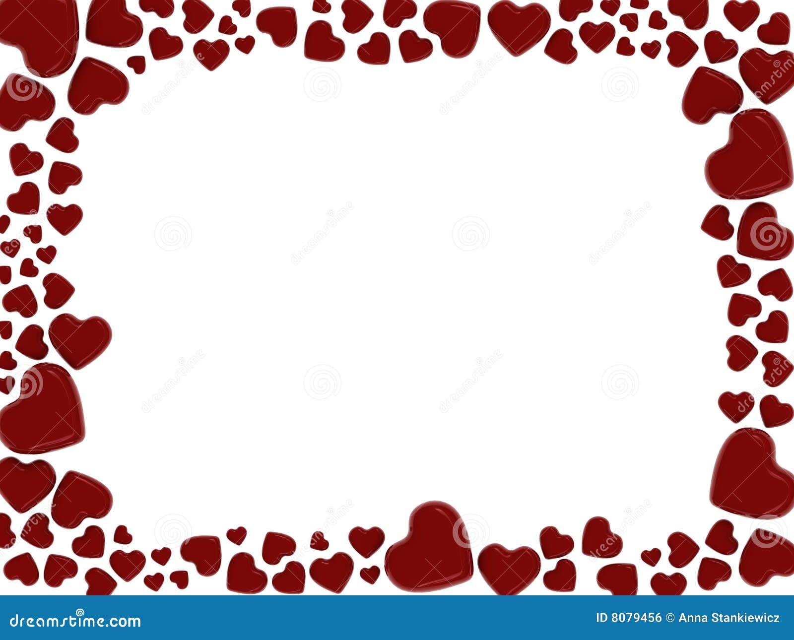 Marco de los corazones imagen de archivo libre de regal as - Marcos de corazones para fotos ...