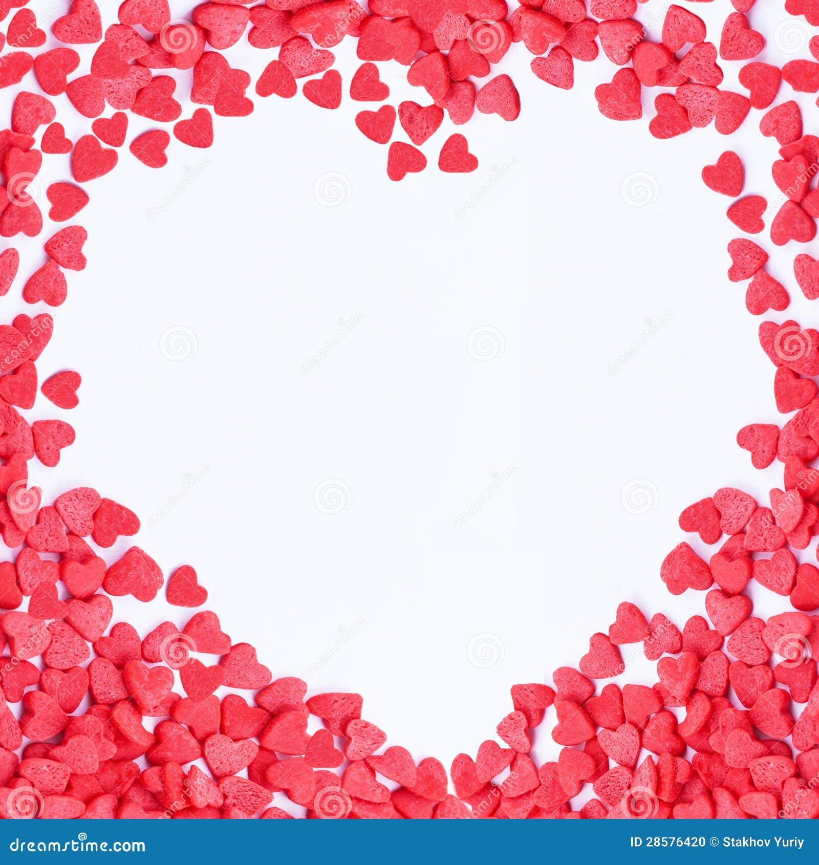 Marco De Los Corazones De La Tarjeta Del Día De San Valentín Foto de ...