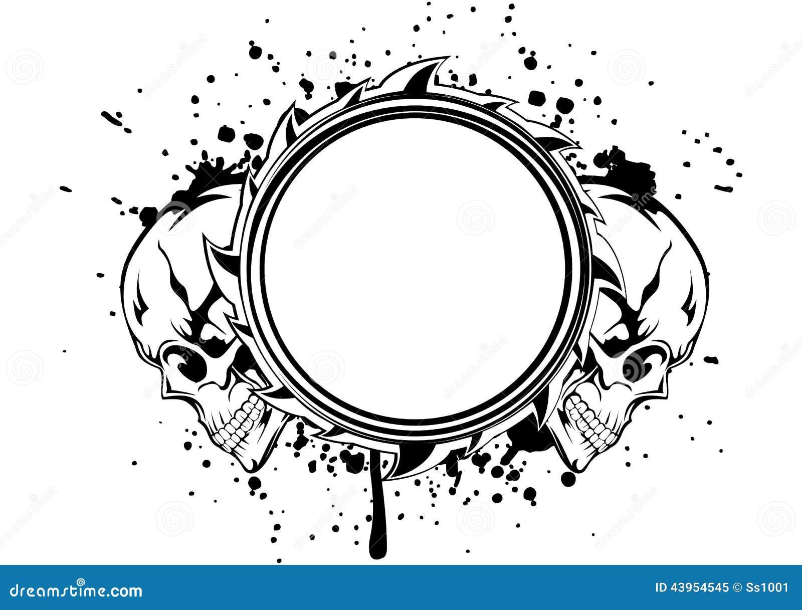 Marco de los cráneos ilustración del vector. Ilustración de cranium ...