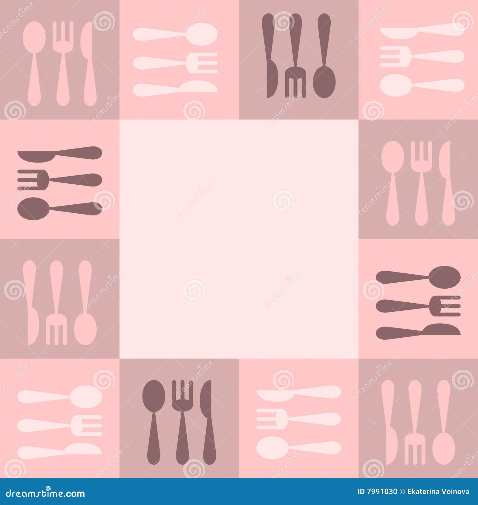 Marco de los utensilios de cocina foto de archivo imagen for Utensilios de cocina fondo