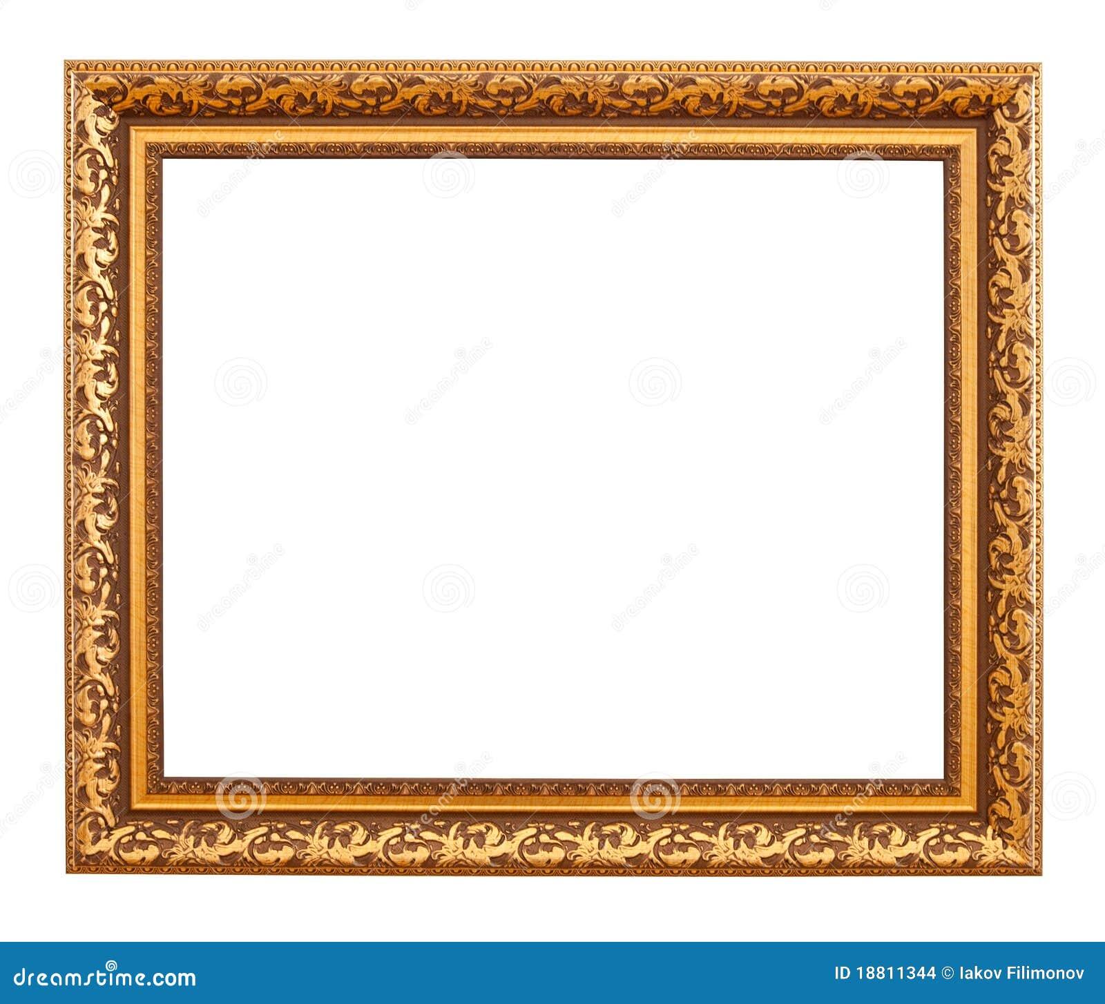 Marco de lujo del oro foto de archivo. Imagen de decorativo - 18811344