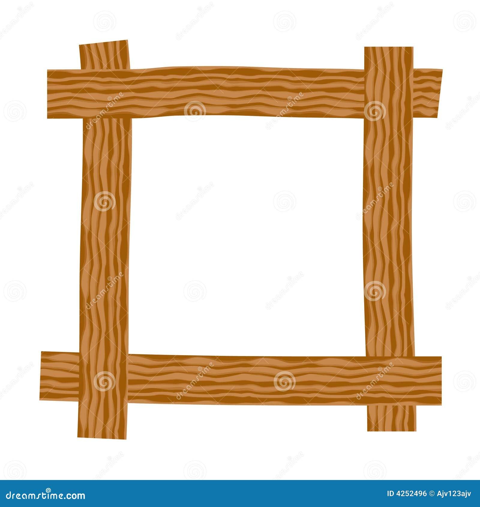 Marco de madera rústico stock de ilustración. Ilustración de grunge ...
