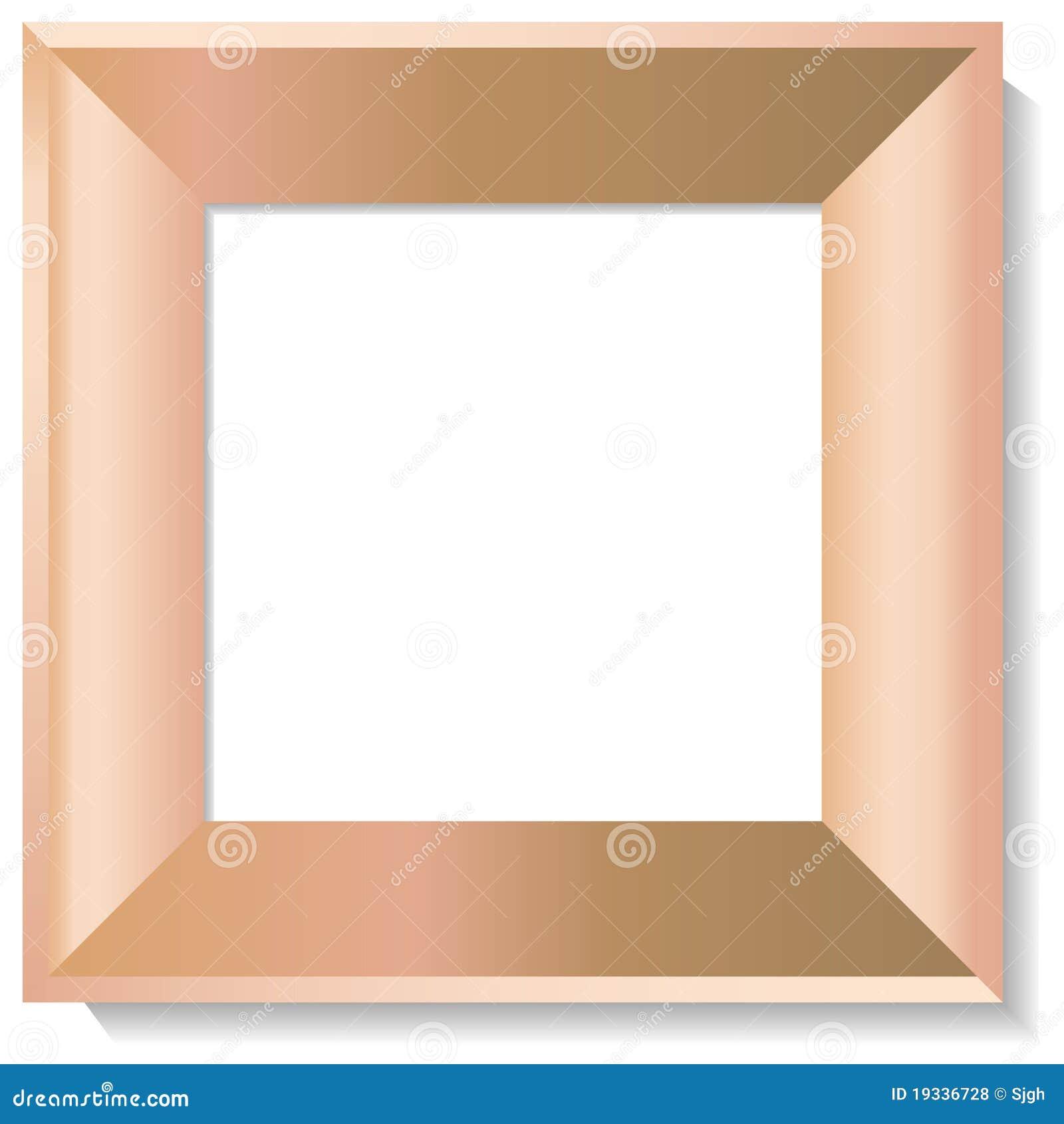Marco de madera realista de la foto