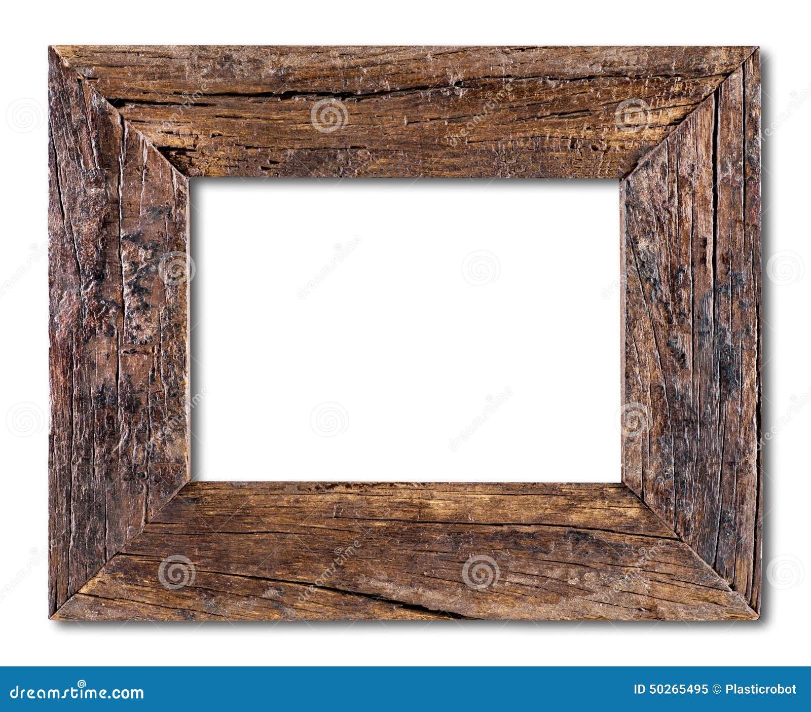Marco de madera r stico foto de archivo imagen 50265495 - Marcos de madera ...