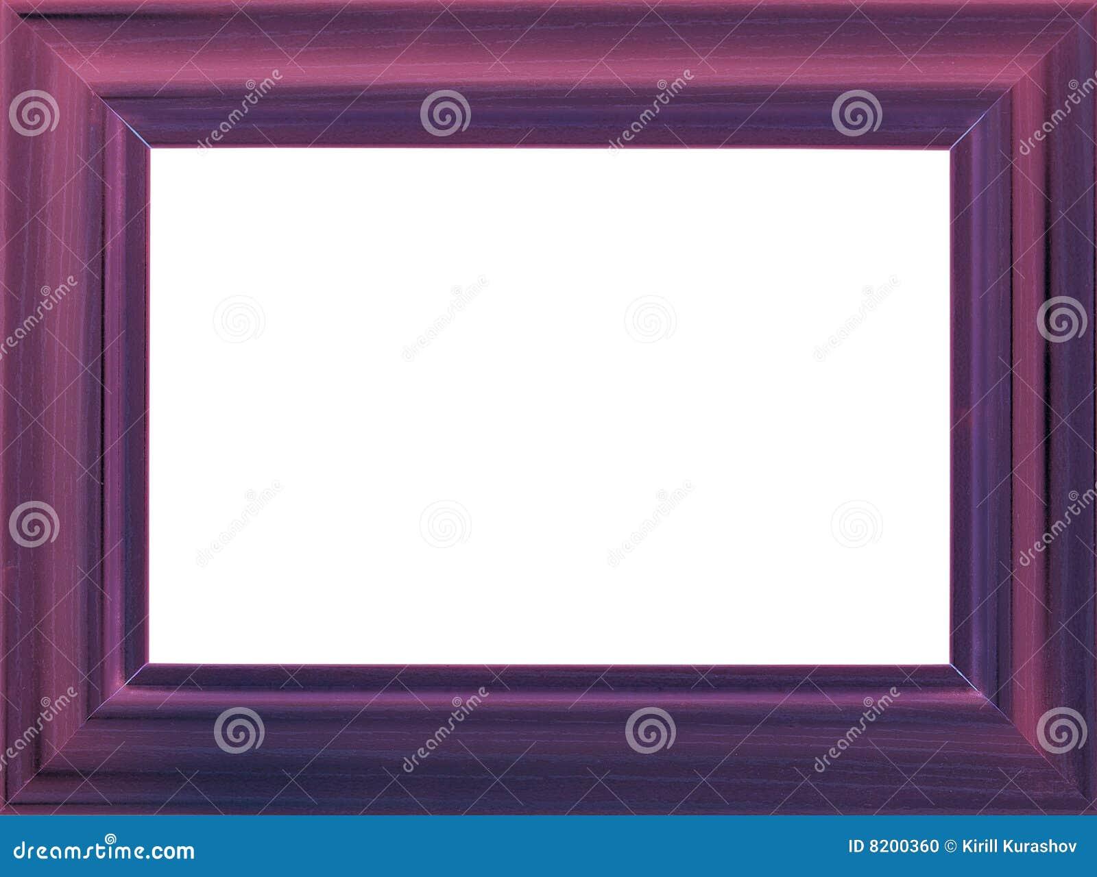Marco de madera violeta de la foto foto de archivo - Marcos de fotos madera ...