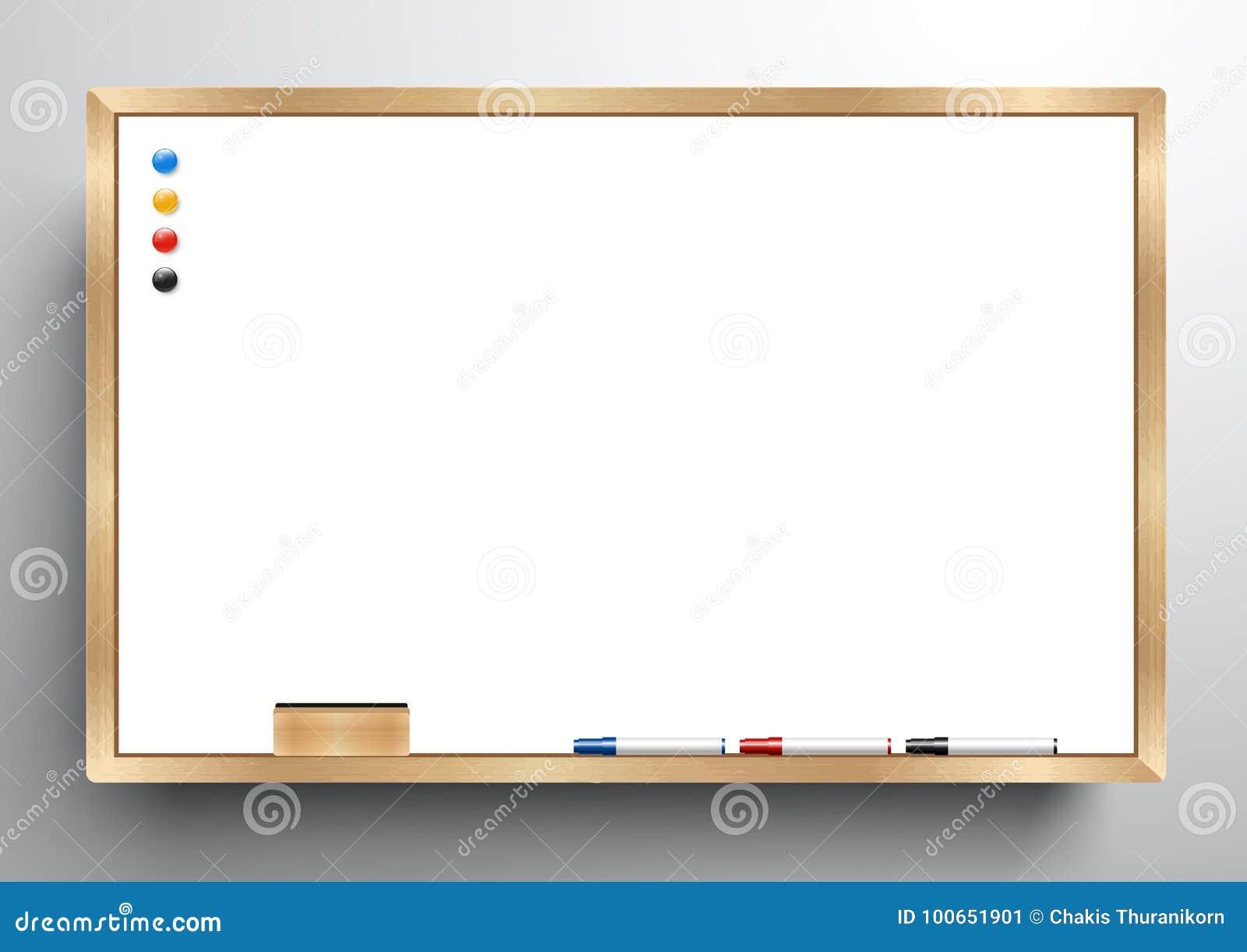 Marco De Madera De Whiteboard Con Whiteboard Del Borrador, El ...