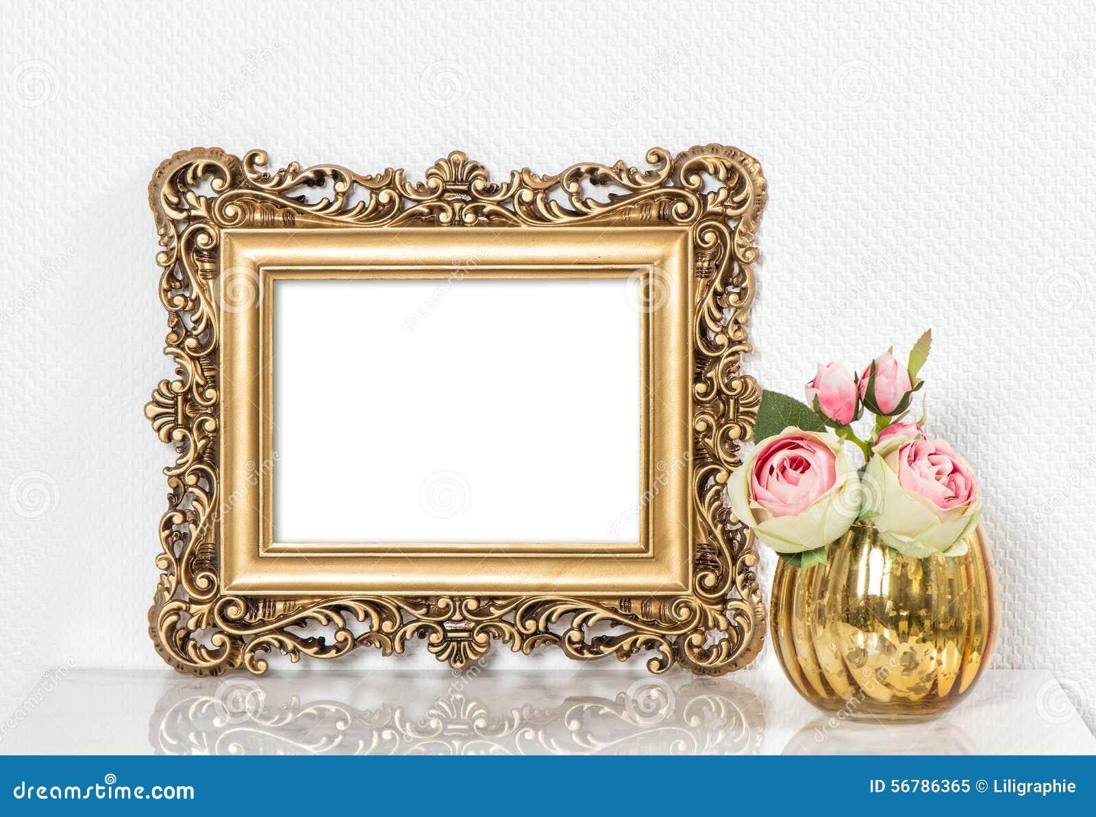 Bonito Rosa Marco De La Cama De Oro Imágenes - Ideas Personalizadas ...