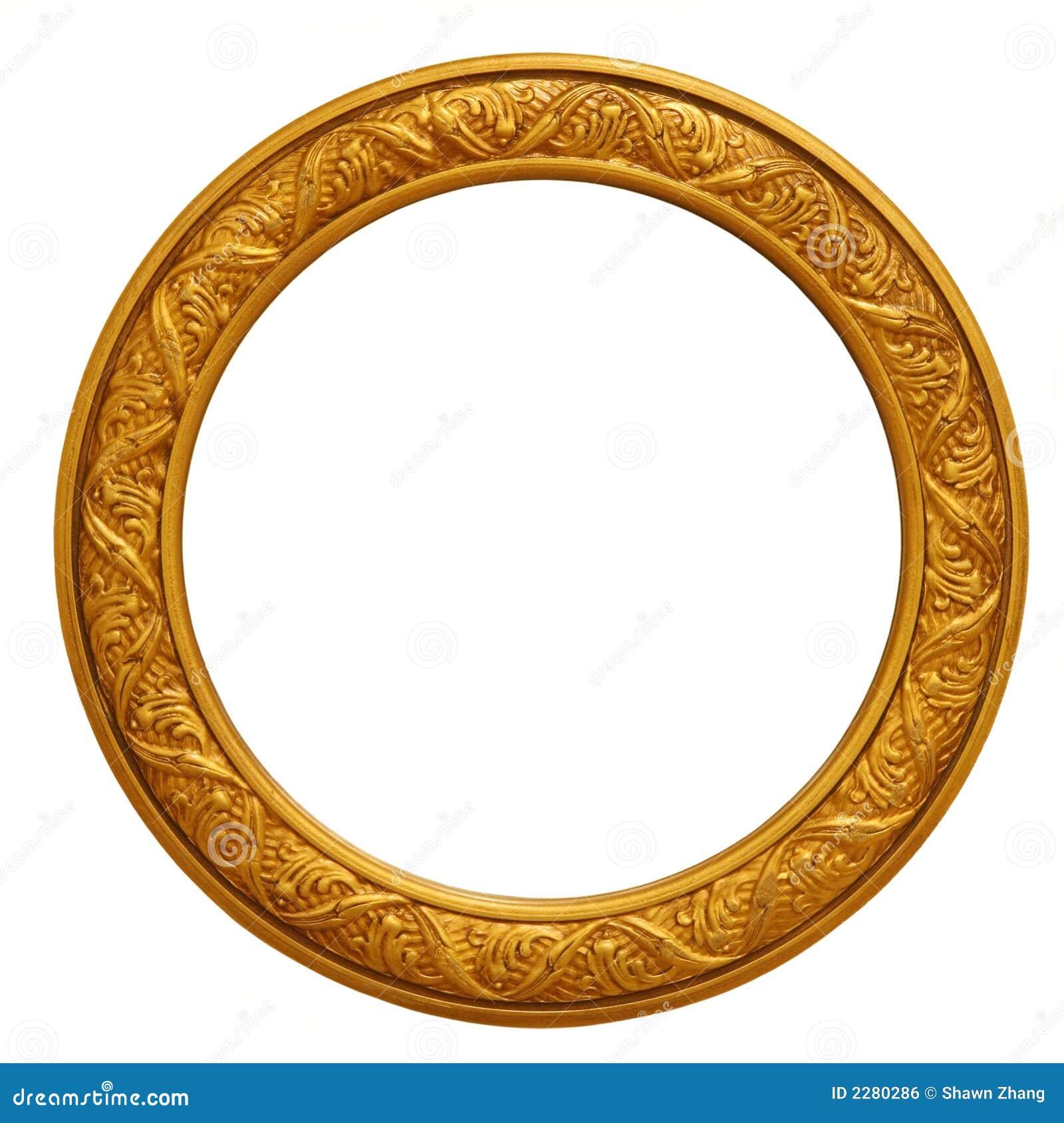 Marco de oro circular