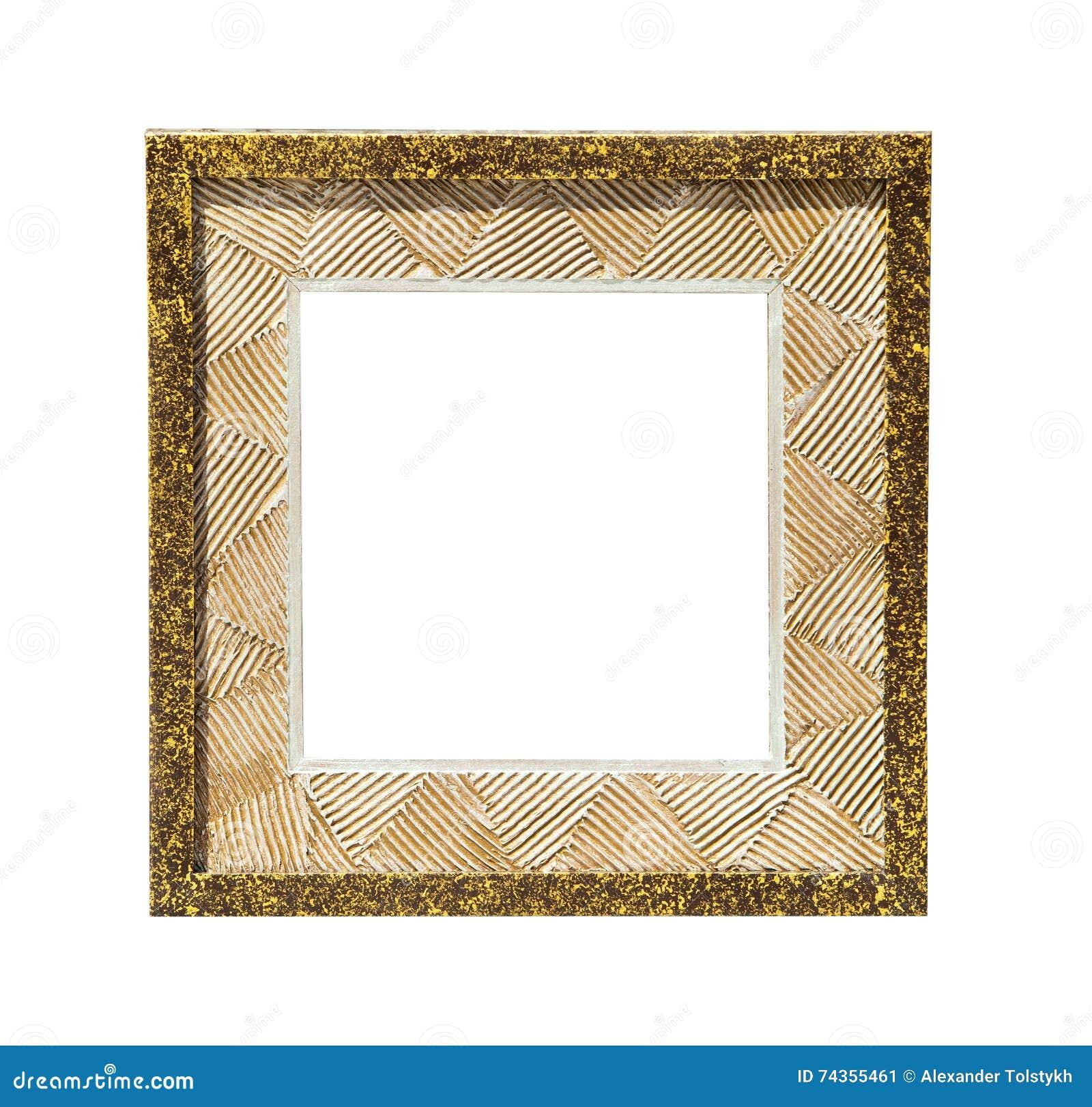 Marco De Oro De La Lona De Pintura Del Diseño Imagen de archivo ...