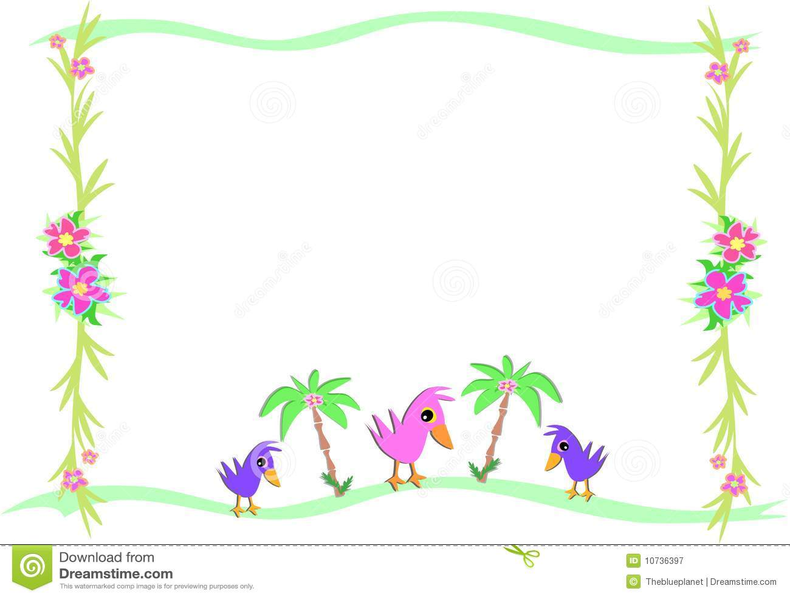 Marco de p jaros y palmas y plantas tropicales fotograf a - Marcos para plantas ...