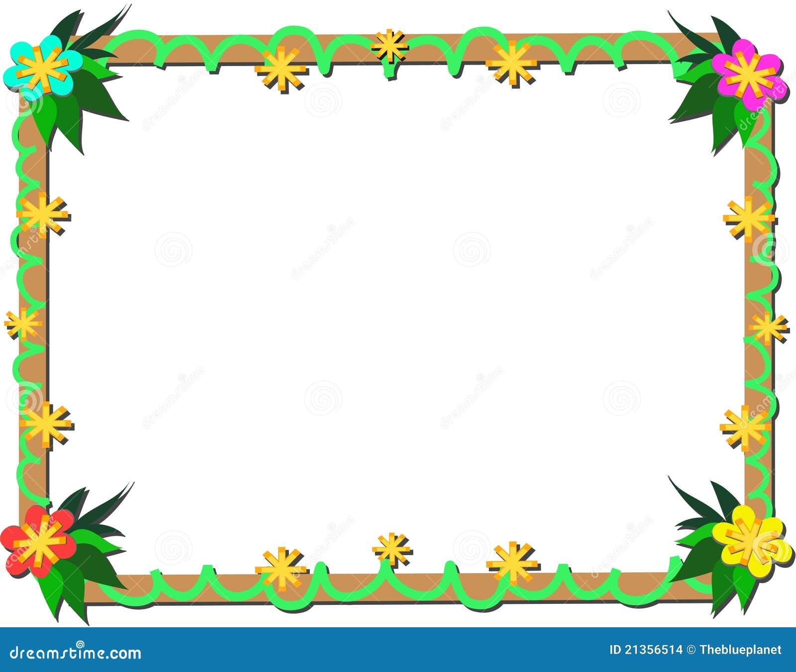Marco de plantas tropicales y de la madera ilustraci n del vector ilustraci n de plantas - Marcos para plantas ...
