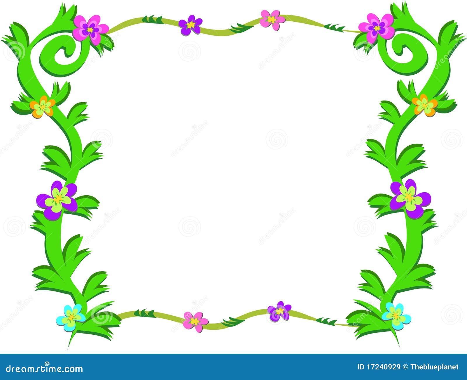 Marco de plantas verdes y de flores coloridas im genes de - Marcos para plantas ...