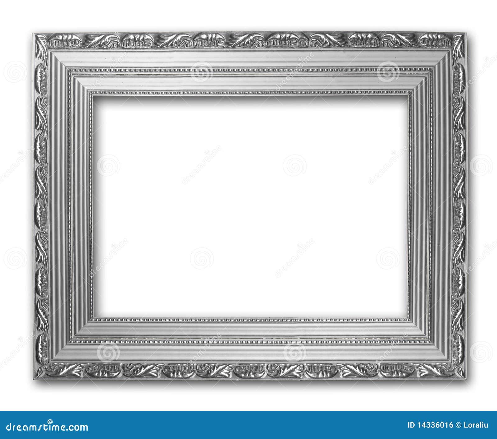 Marco de plata del cuadro stock de ilustración. Ilustración de blank ...