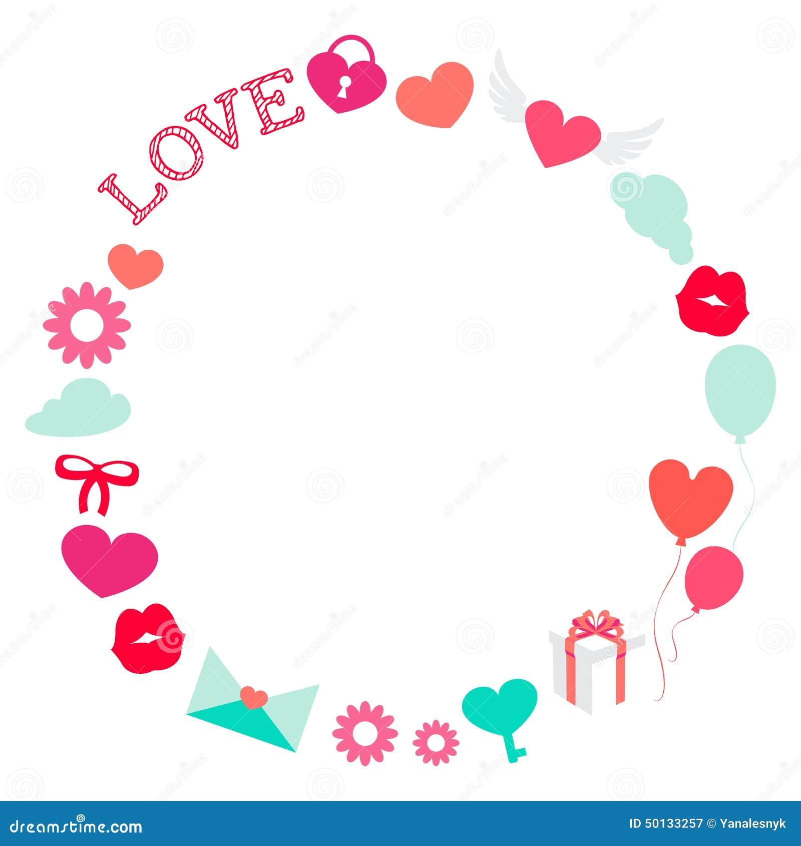 Marco Romántico Del Amor De La Tarjeta Del Día De San Valentín ...