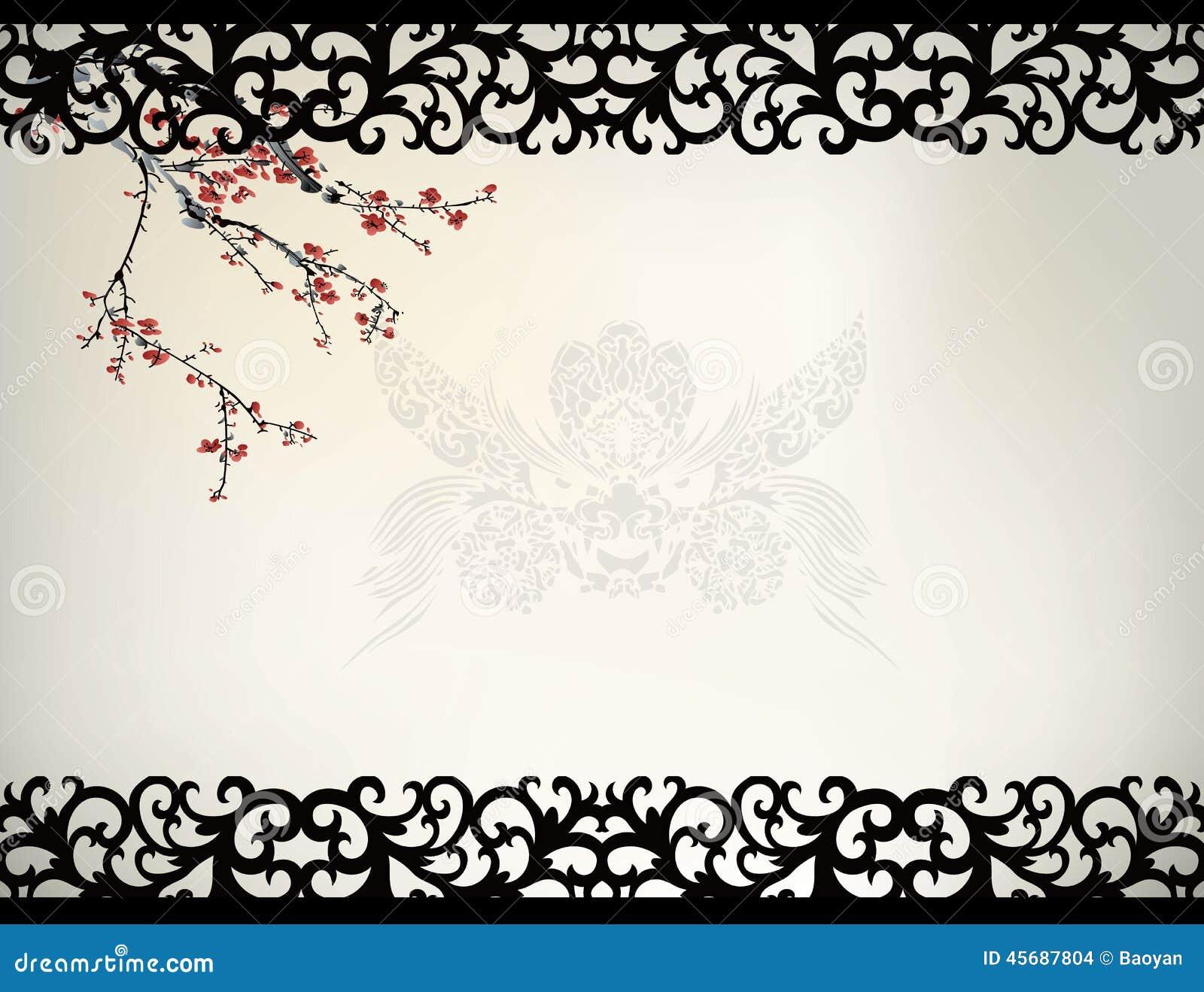 Marco de ventana chino ilustración del vector. Ilustración de vector ...