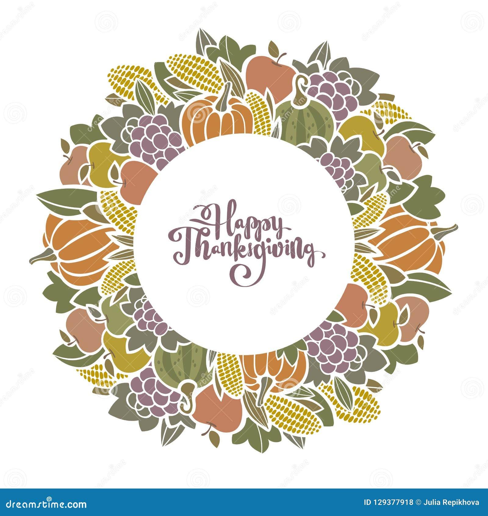Marco decorativo de la cosecha de Autumn Thanksgiving con la fruta y verdura