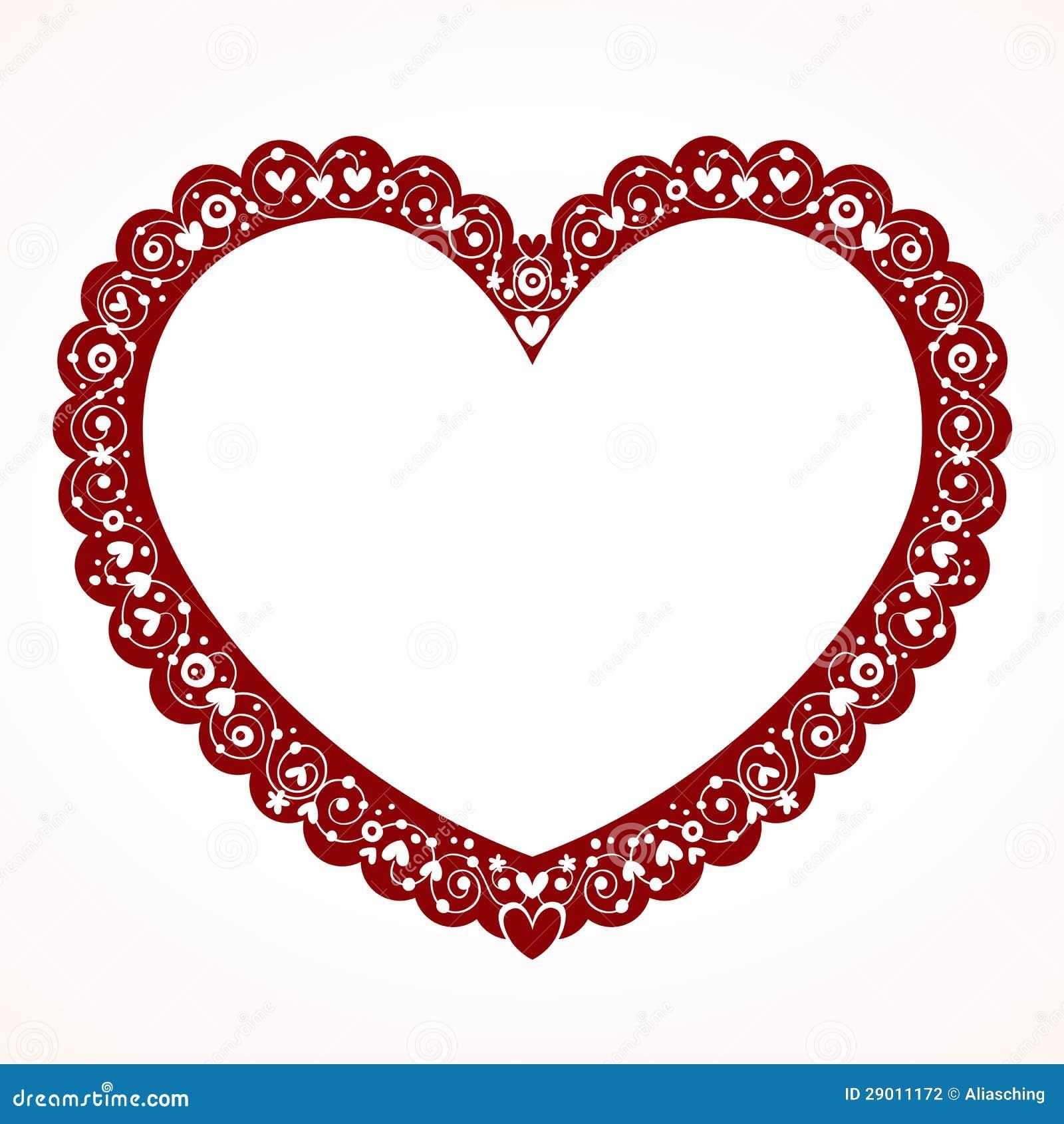 Marco decorativo del coraz n de la tarjeta del d a de san - Marcos de corazones para fotos ...