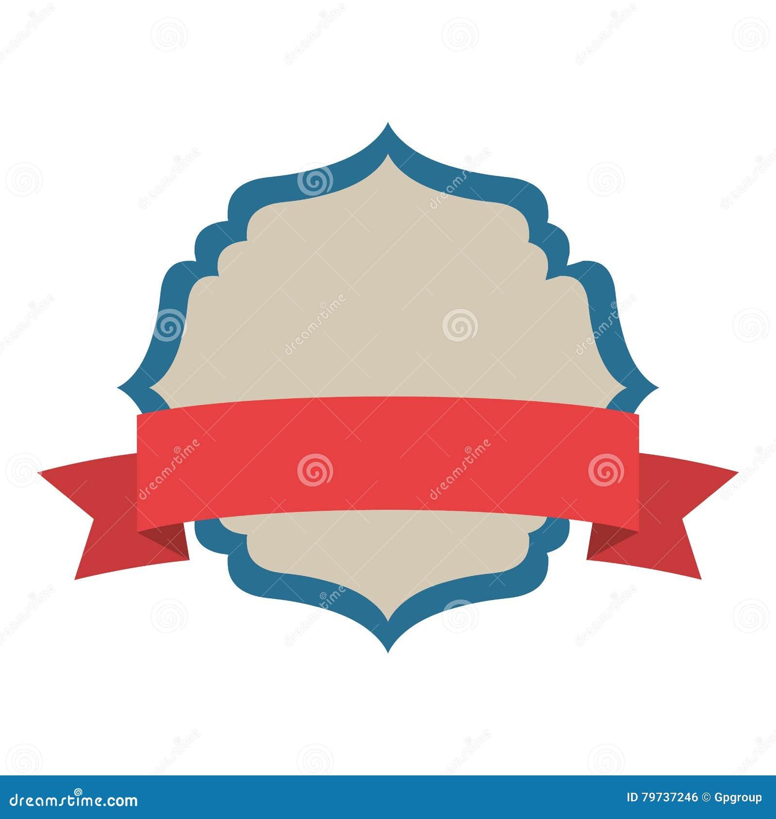Marco decorativo heráldico de la silueta con la etiqueta