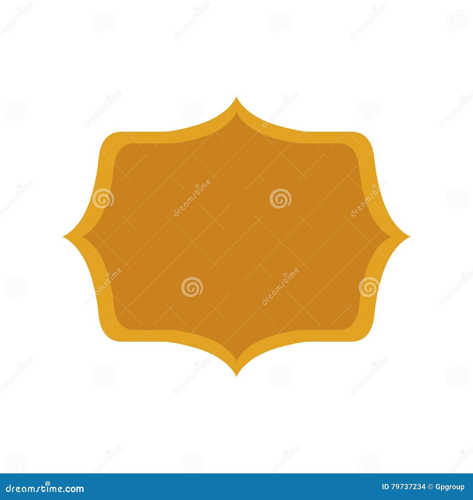 Marco decorativo heráldico de la silueta del oro
