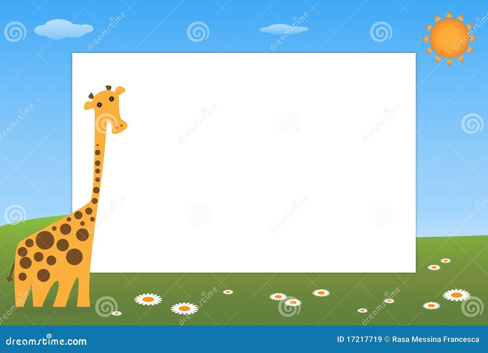 Marco del cabrito - jirafa ilustración del vector. Ilustración de ...