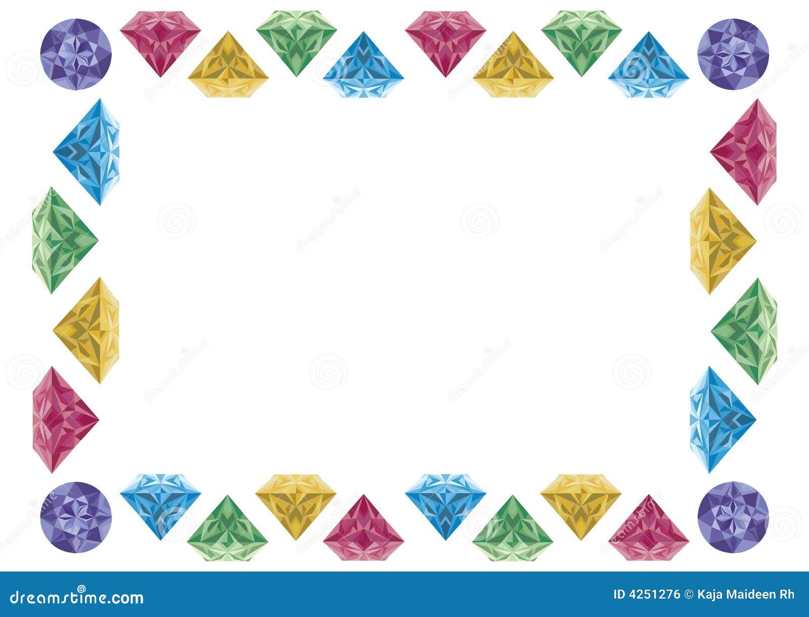 Marco del diamante stock de ilustración. Ilustración de línea - 4251276